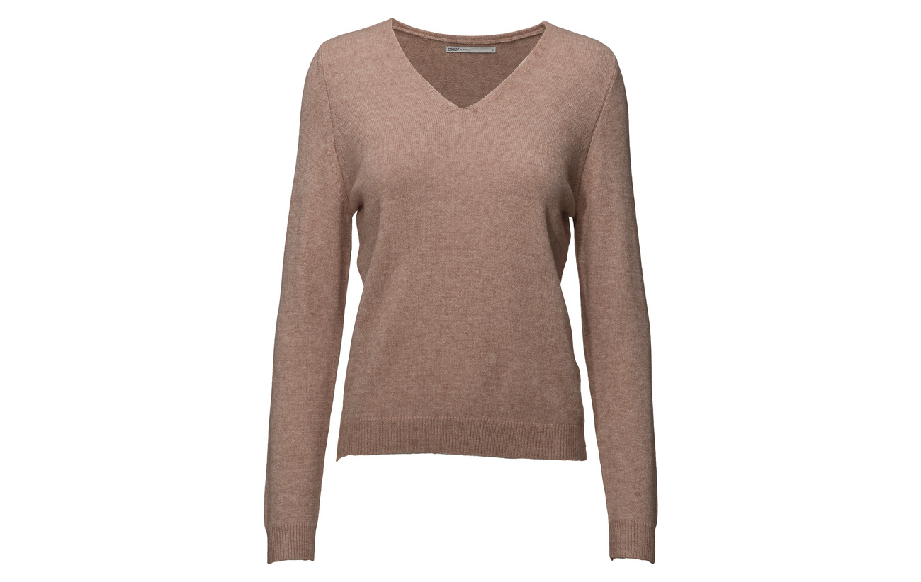 Rose Polyester Pullover 50 Noos Knt Misty 23 neck Nylon Viscose s Onlqueen 27 V L Only wzTqpCx