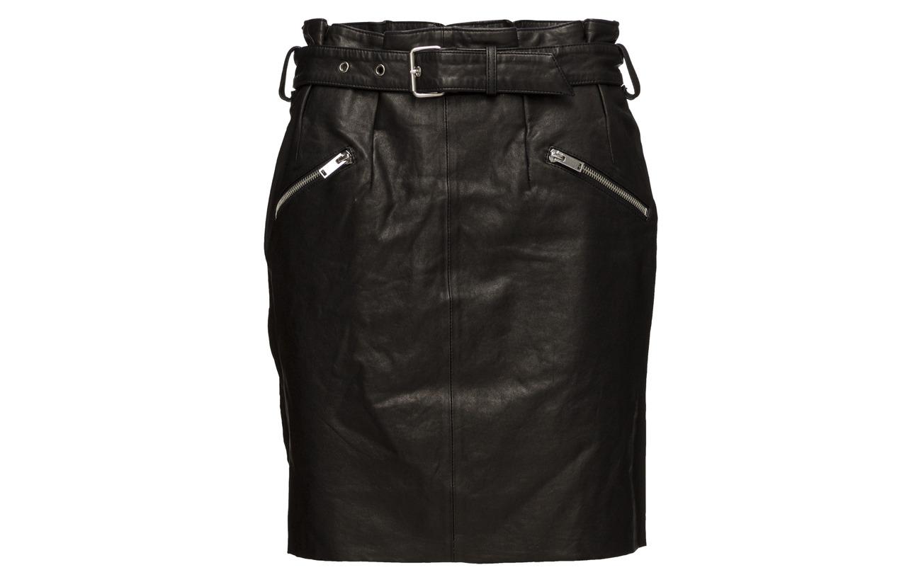 Skirt Onqopus Paperbag Black Otw Only Leather Sheep 100 Cuir 7tqpwqdnP