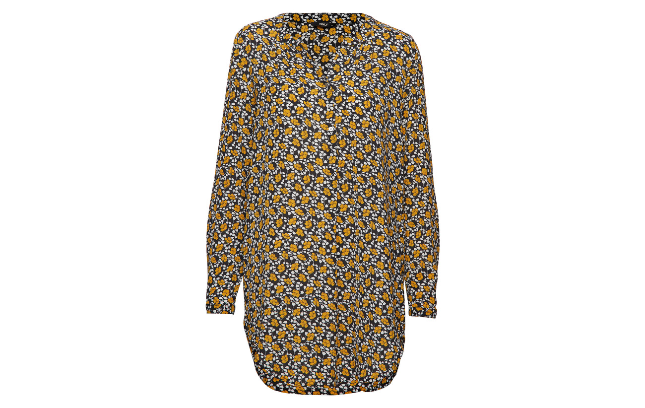 3 Black Aop Only Shirt Long 97 Lux Polyester 3 Onlnova Wvn Elastane Tunic tqqnZfpY8