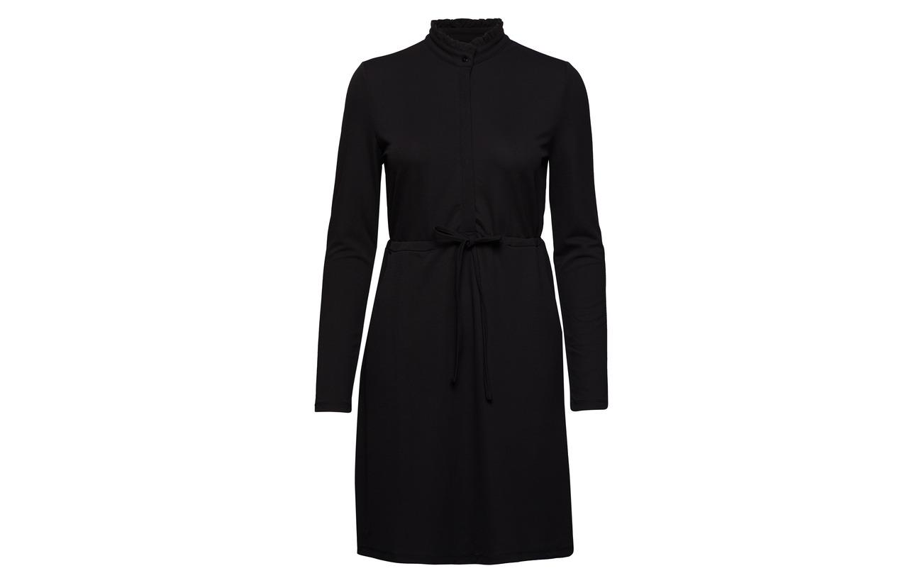 Placket s L Onlmona Polyester Dress Elastane Jrs Only 5 Cs 95 Black qtxg5nw