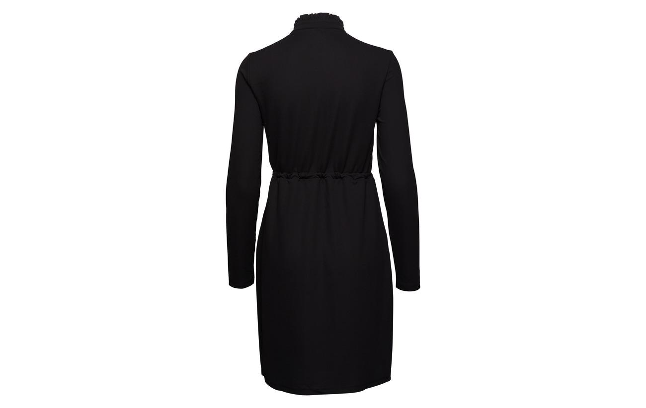 Jrs L Black Onlmona s 95 Dress Only Cs Placket Elastane Polyester 5 Y7pOZwF