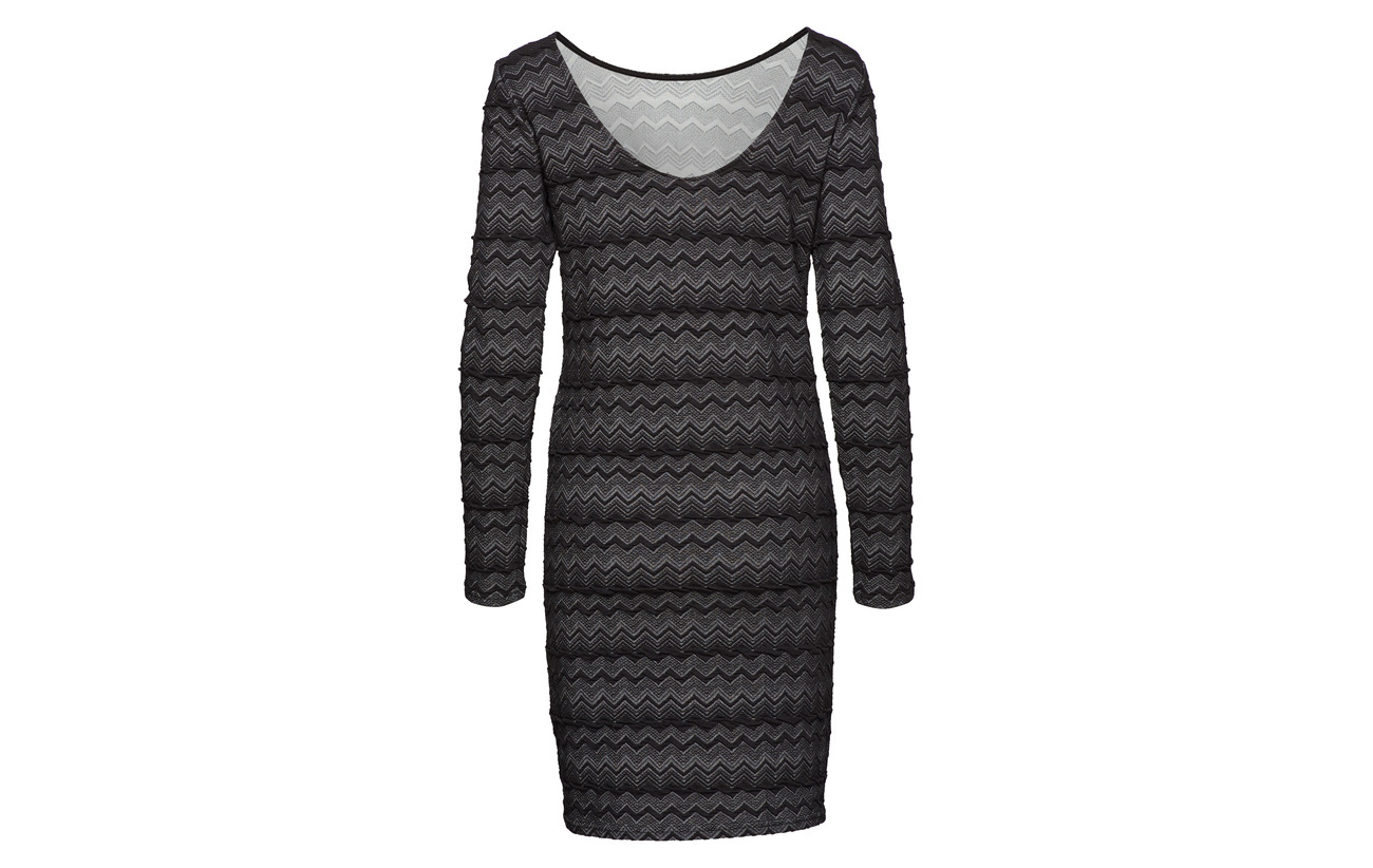 Jrs L Only Onlvigga Dress 100 Zigzag s Polyester Black XqFw1S