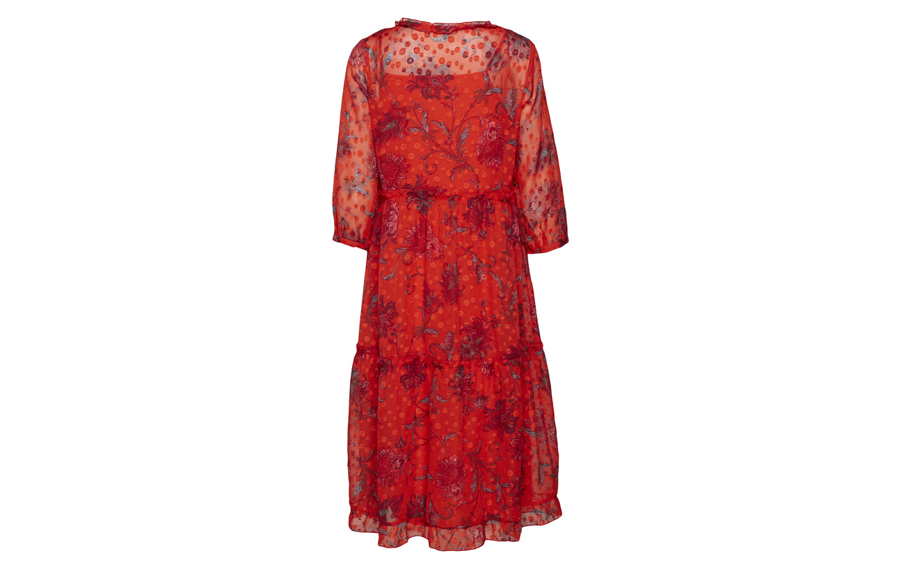 Polyester Fiery Wfceline Dress Only 4 3 Wvn 100 Red 14qpO8wW