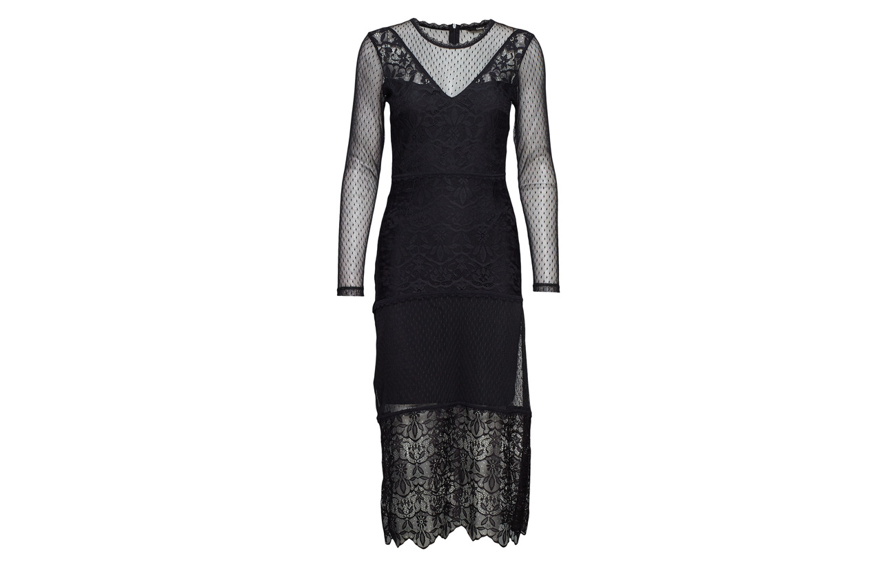 Dress Only Lace 100 Wvn Polyester L s Black Onlsam qxInwAg14