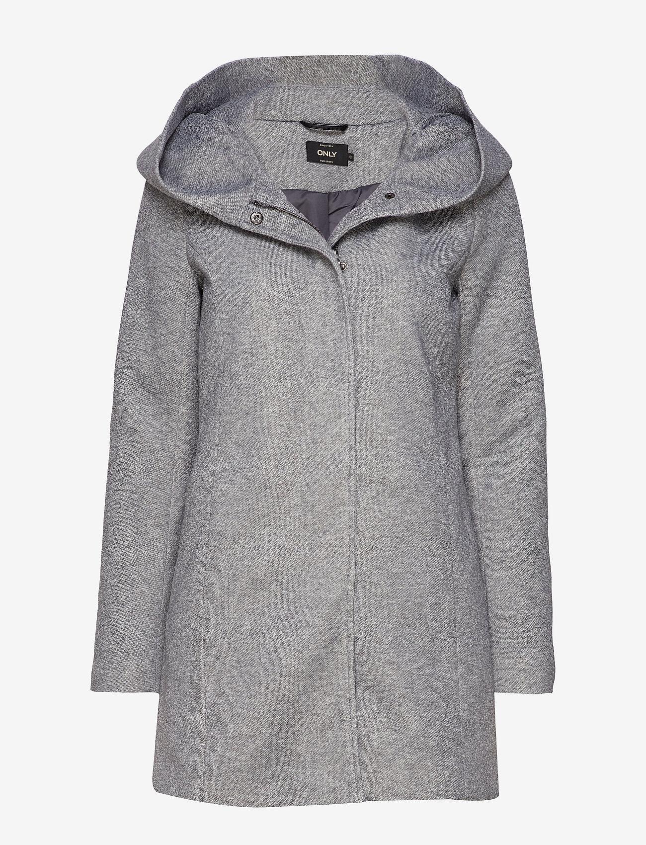 ONLY - ONLSEDONA LIGHT COAT OTW NOOS - cienkie płaszcze - light grey melange - 0