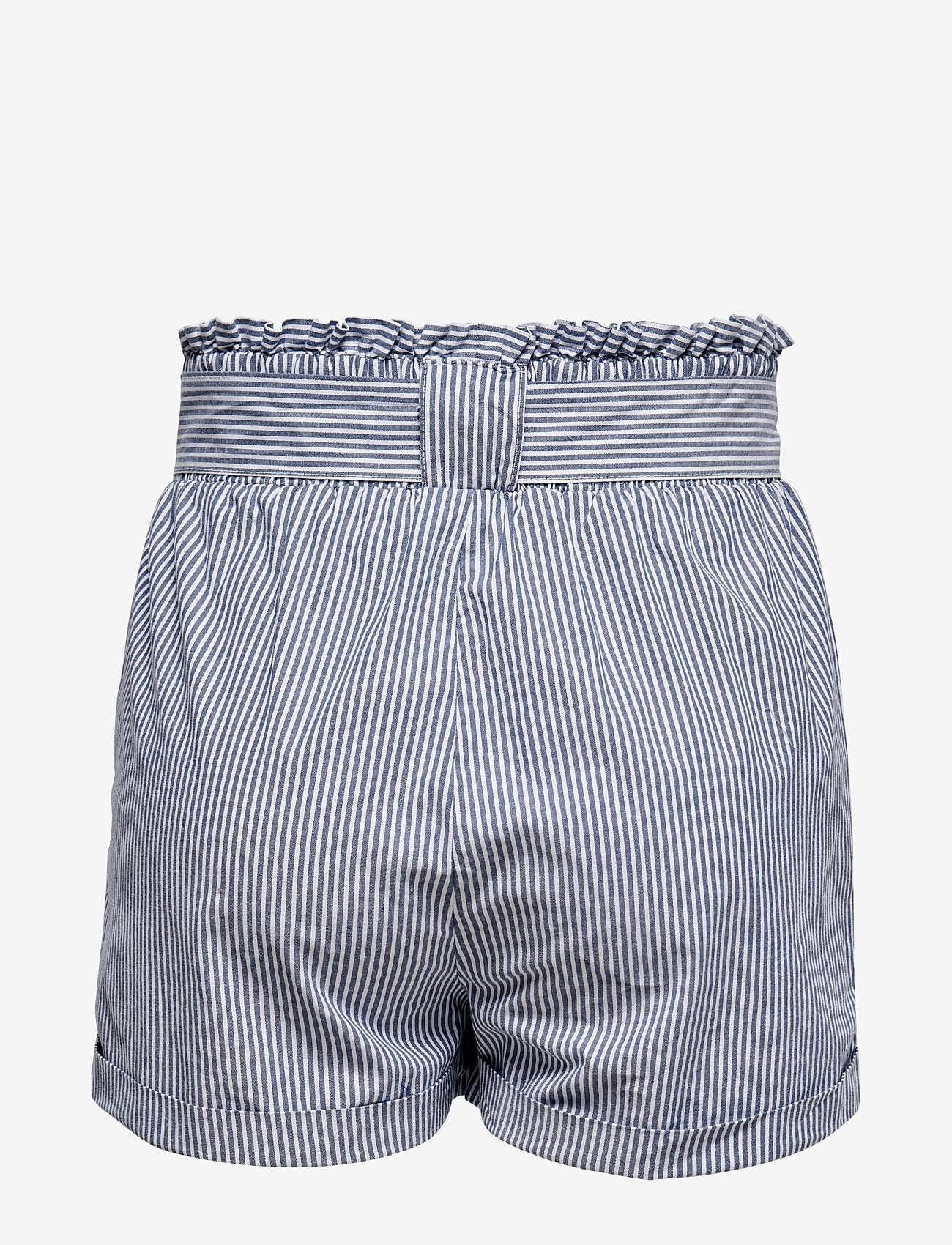 ONLY - ONLSMILLA STRIPE BELT DNM SHORTS - shorts casual - medium blue denim - 1