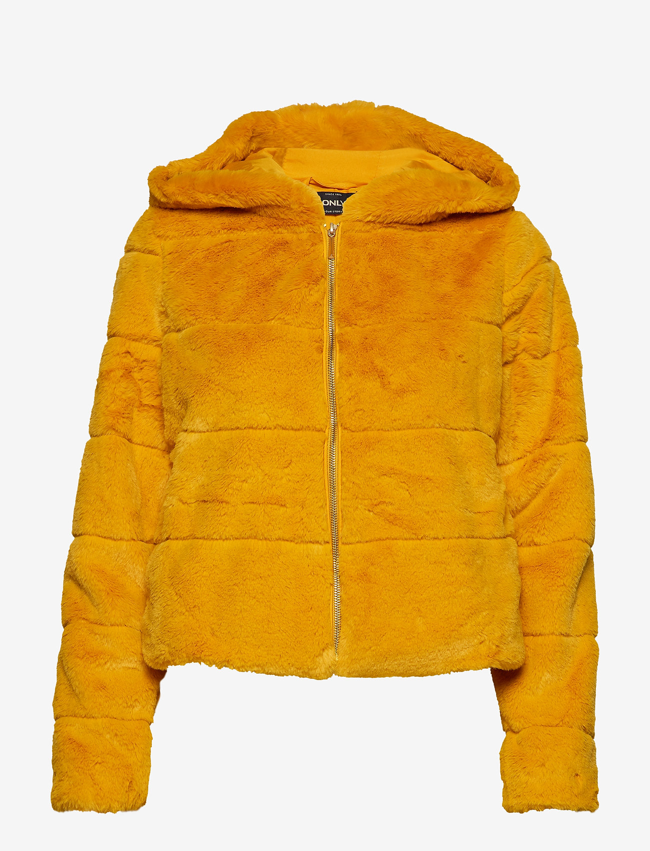 ONLY - ONLCHRIS FUR  HOODED JACKET OTW - faux fur - golden yellow - 0
