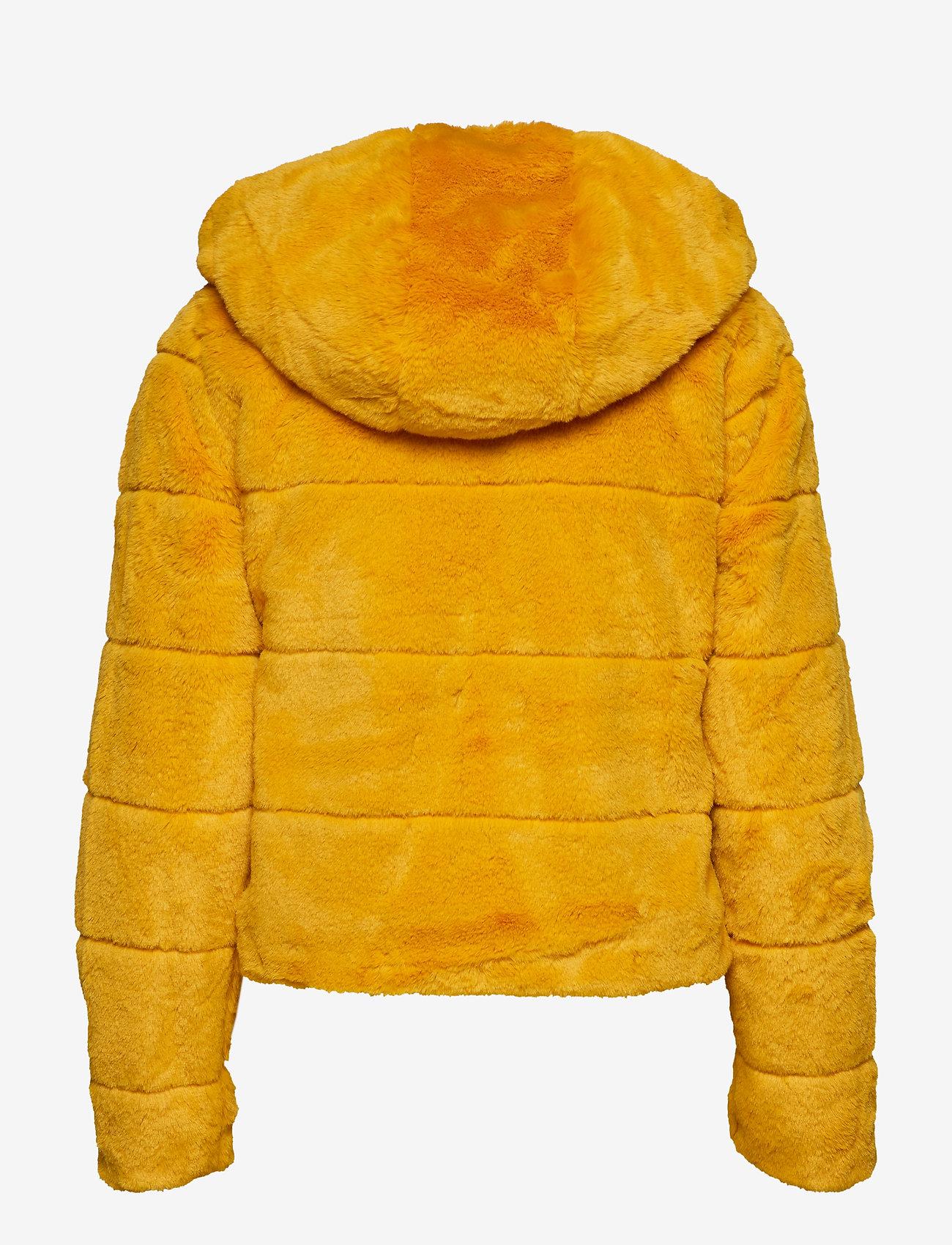 ONLY - ONLCHRIS FUR  HOODED JACKET OTW - faux fur - golden yellow - 1