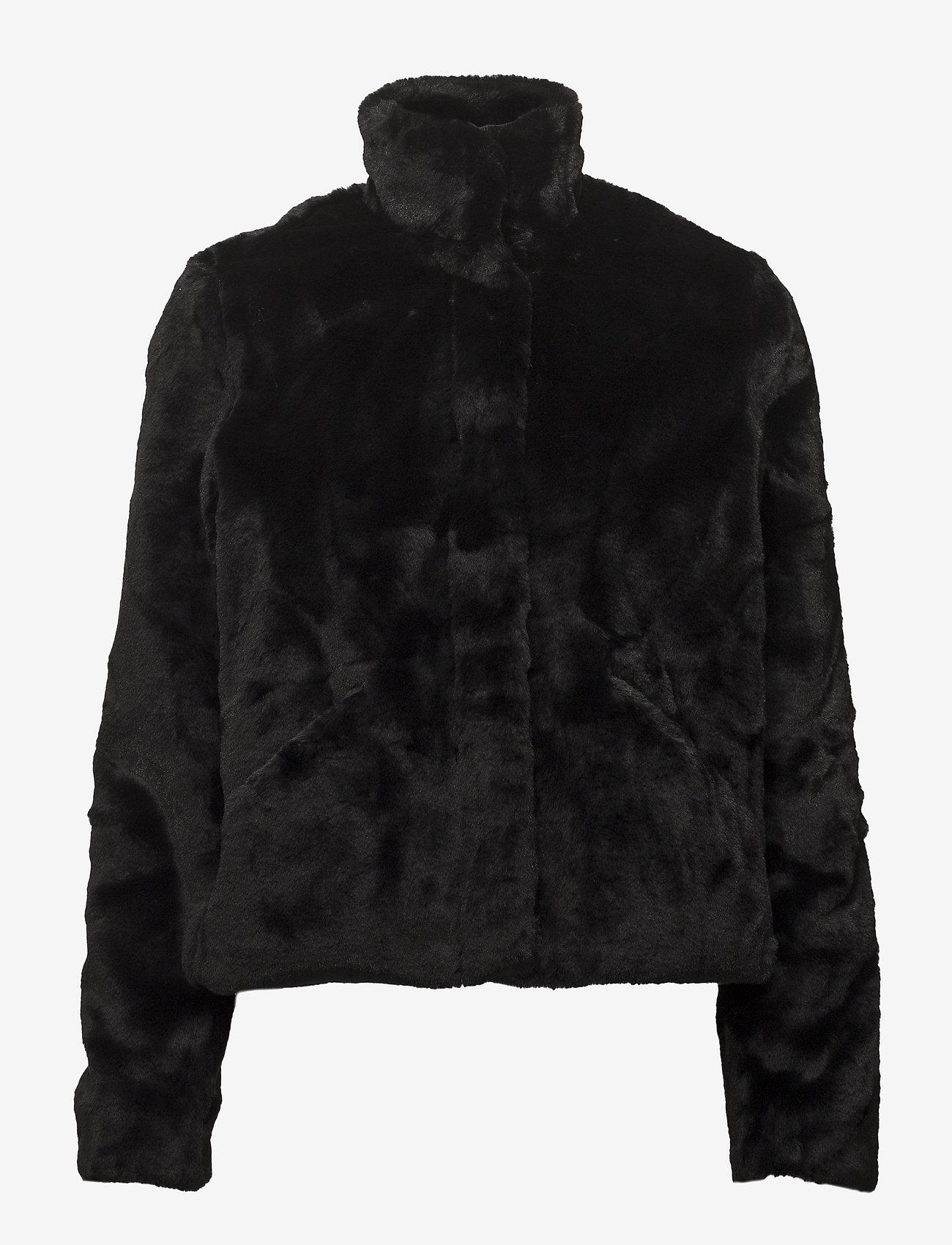 ONLY - onlVIDA FAUX FUR JACKET OTW - faux fur - black - 1