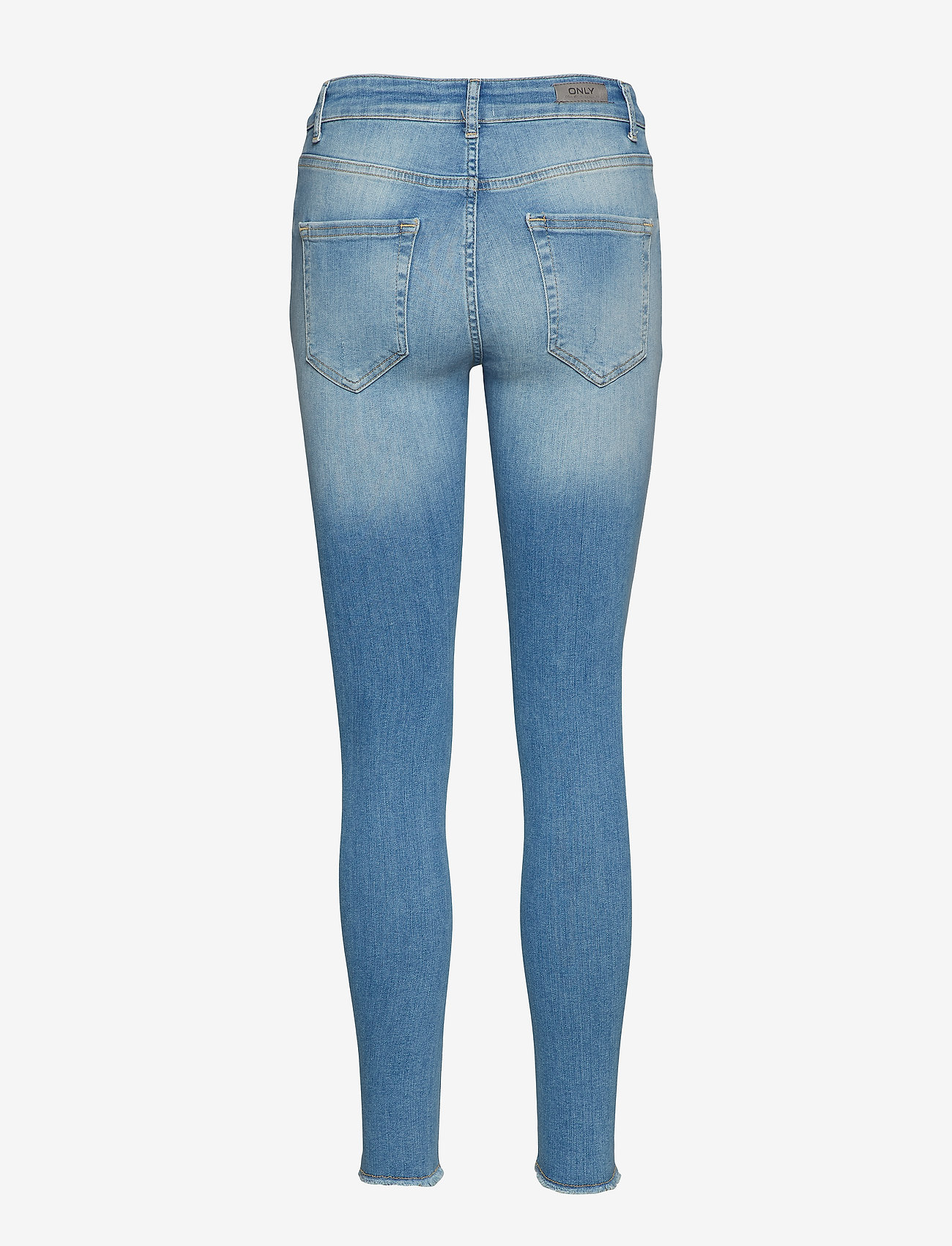 ONLY - ONLBLUSH LIFE MID SK AK RAW REA1467 NOOS - skinny jeans - light blue denim