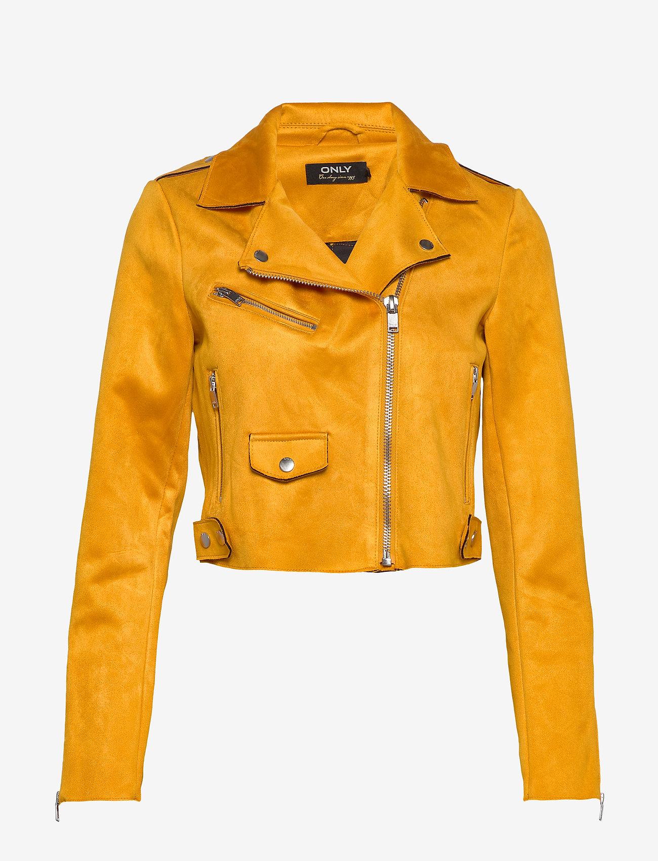 ONLY - ONLSHERRY CROP  BONDED BIKER CC OTW - lichte jassen - golden yellow - 0