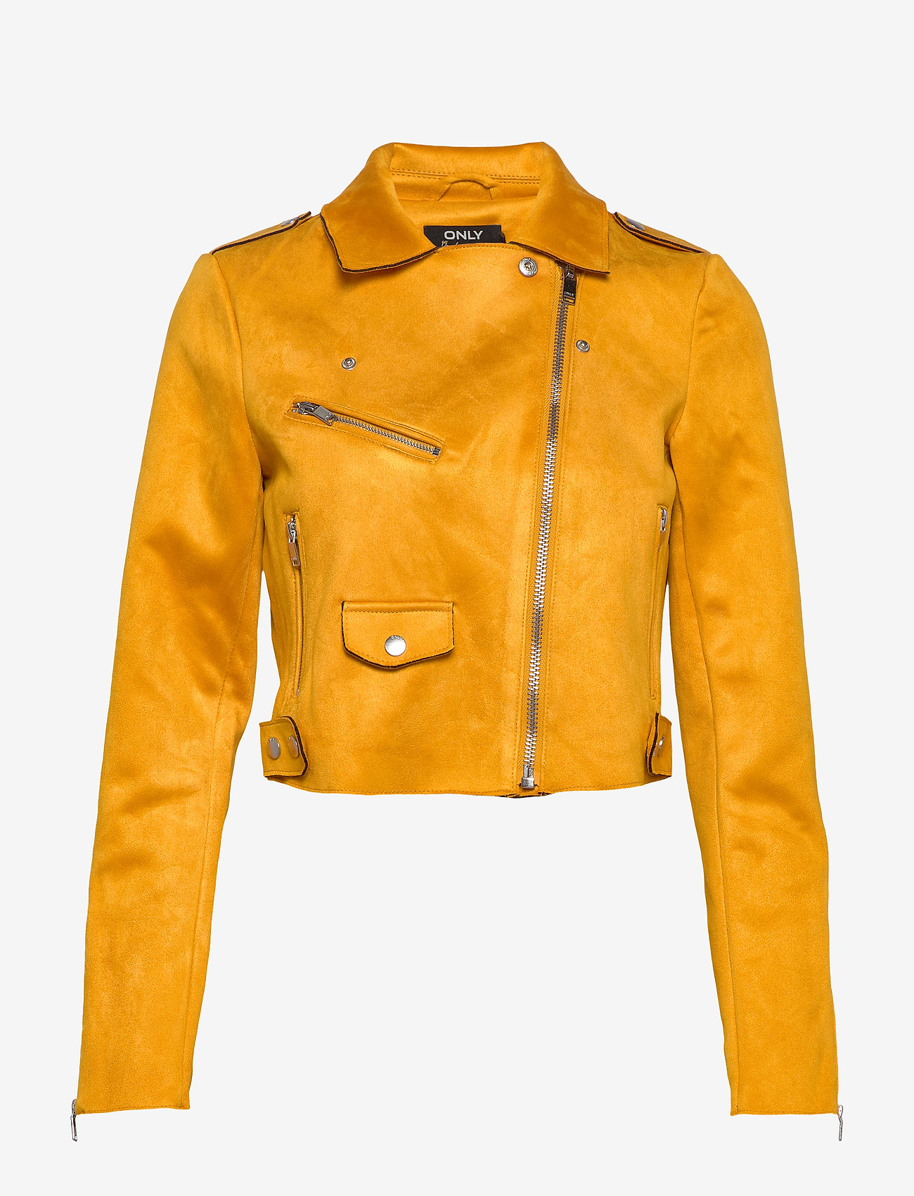 ONLY - ONLSHERRY CROP  BONDED BIKER CC OTW - lichte jassen - golden yellow - 1