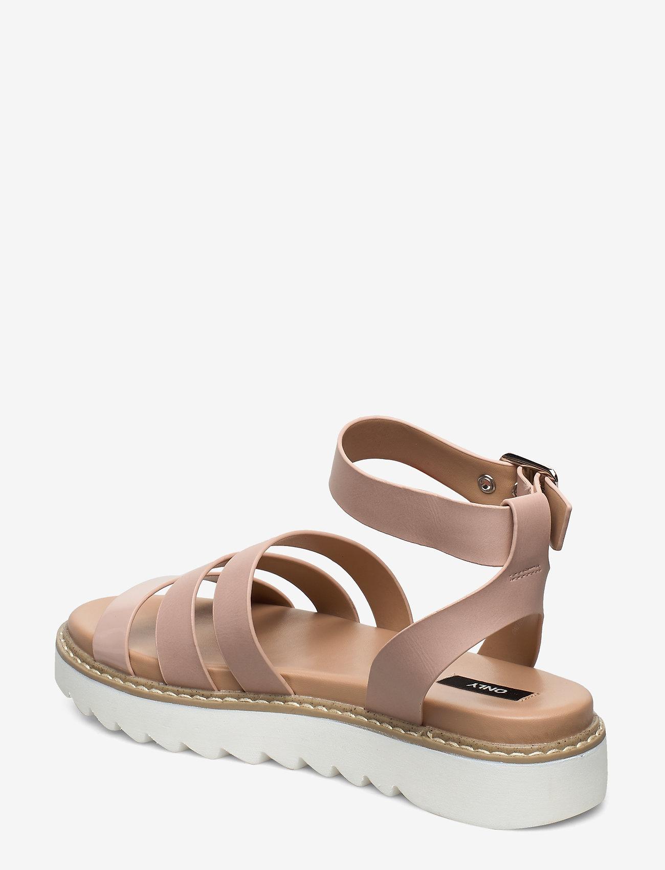 Onlmalu Pu Chunky Wrap Sandal (Nude) - ONLY