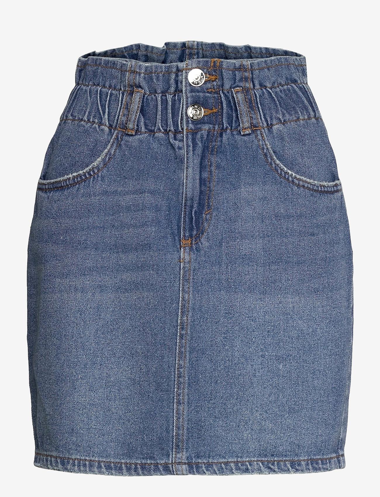 ONLY - ONLMILLIE LIFE HW MINI PAPER SKIRT - jeanskjolar - medium blue denim - 0