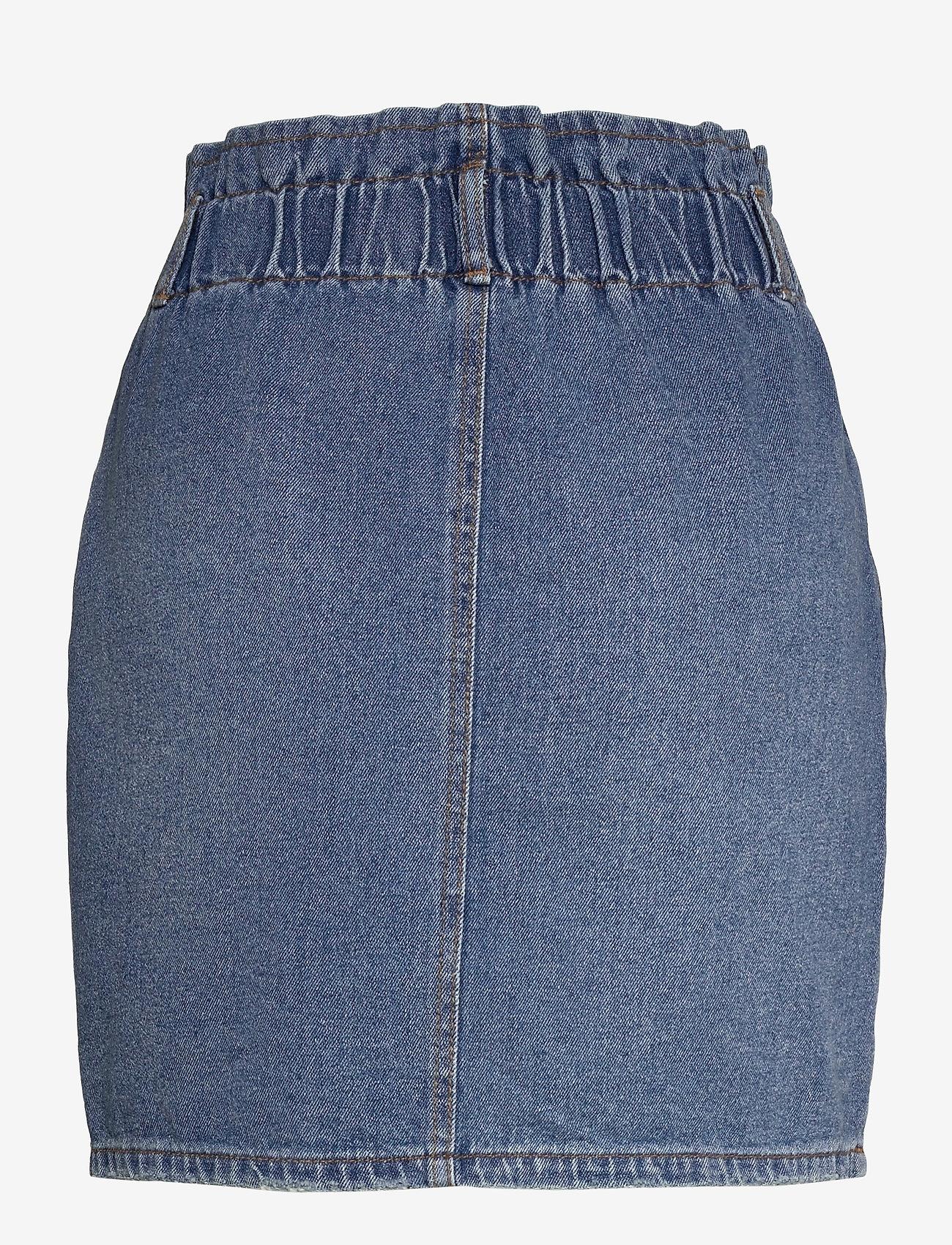 ONLY - ONLMILLIE LIFE HW MINI PAPER SKIRT - jeanskjolar - medium blue denim - 1