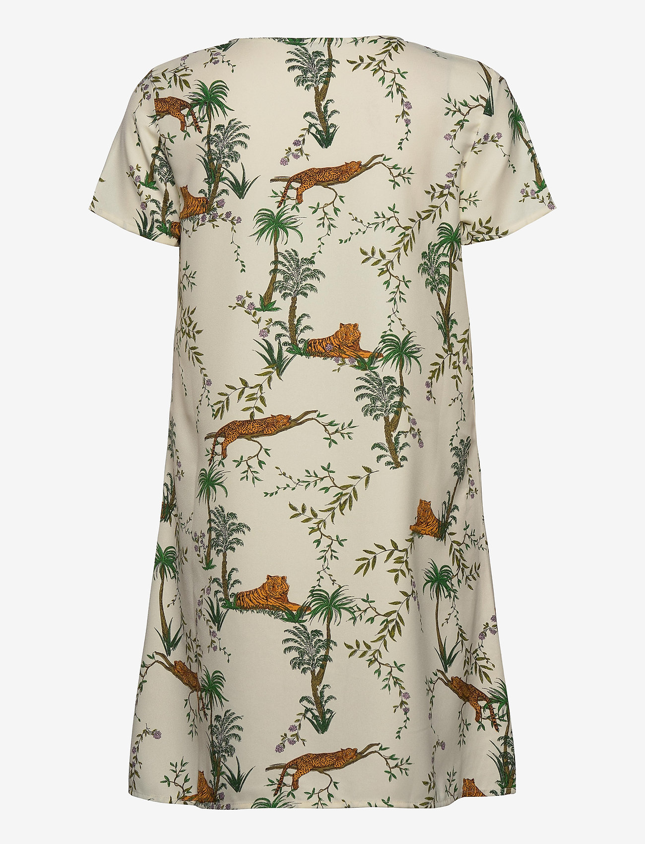 ONLY - ONLELVINA S/S SHORT DRESS WVN - short dresses - transparent yellow