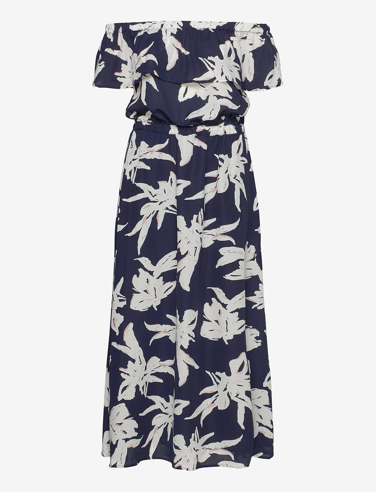 ONLY - ONLALMA LIFE POLY OFF-SHOULDER DRESS AOP - maxi dresses - night sky