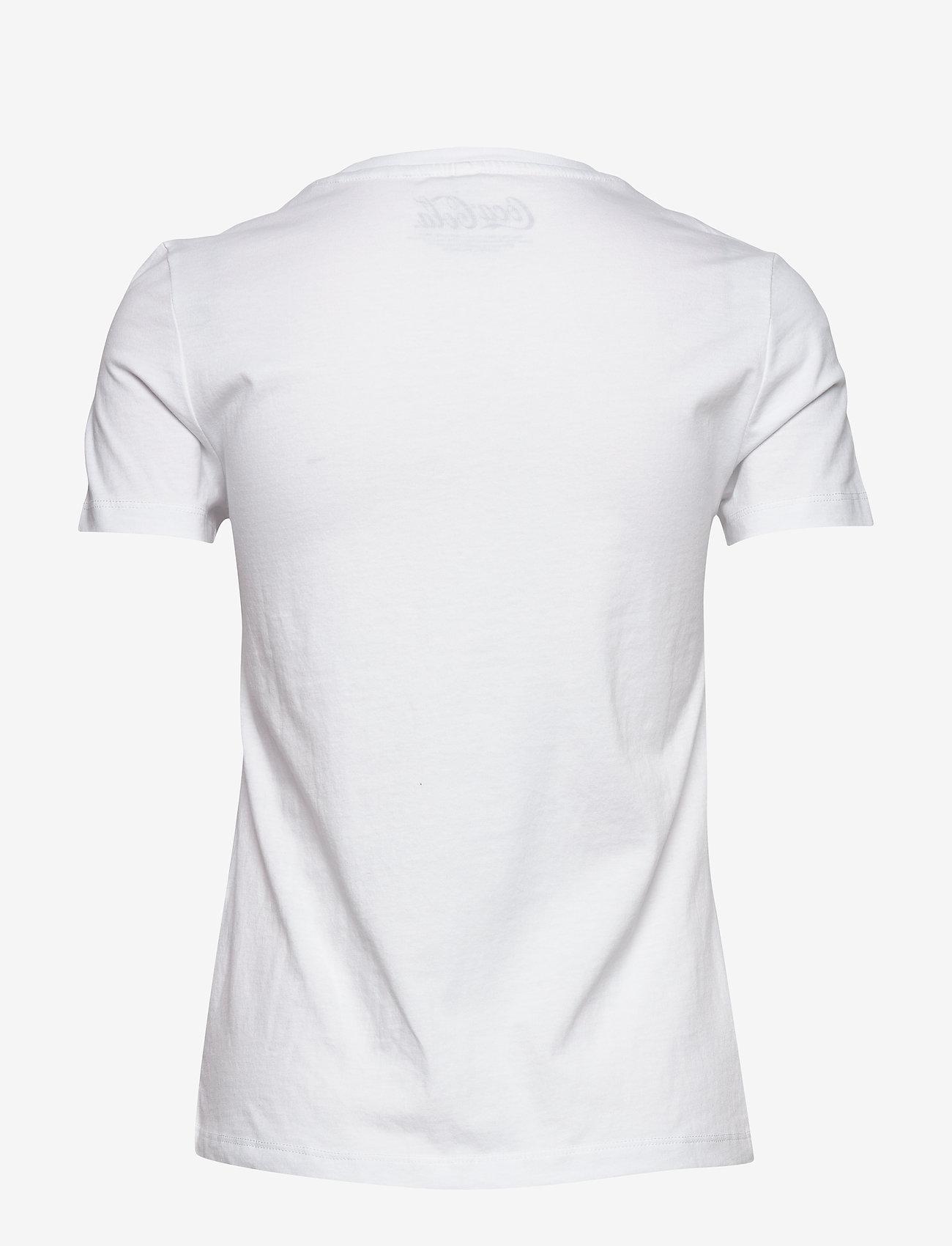 ONLY - ONLCOKE LIFE REG S/S RETRO TOP BOX JRS - printed t-shirts - bright white