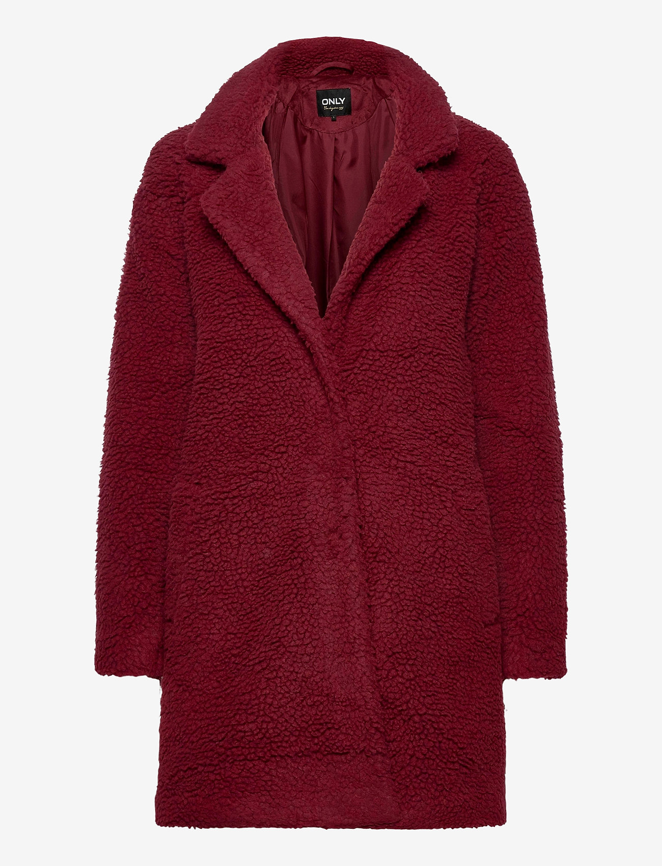 ONLY - ONLAURELIA SHERPA COAT OTW - faux fur - pomegranate - 0