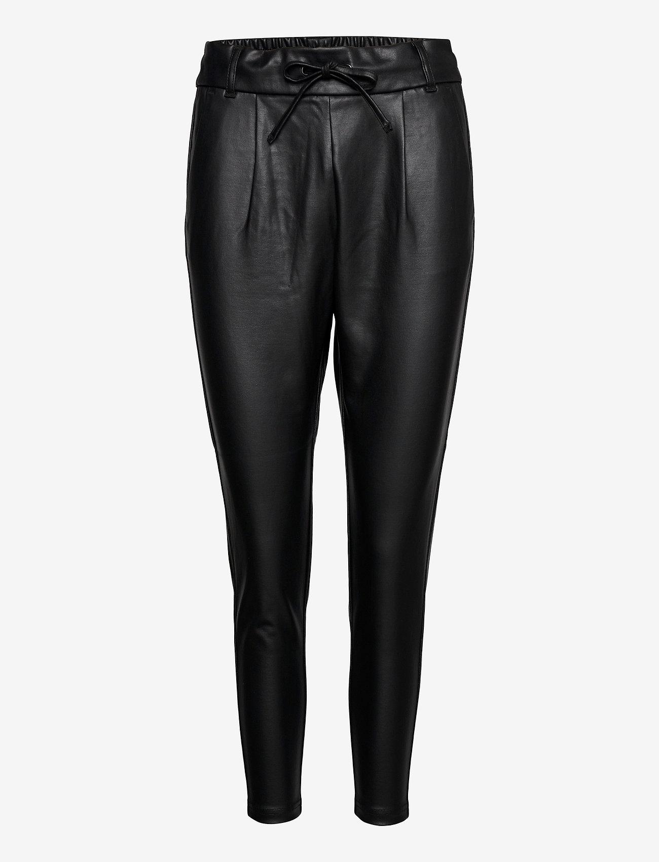 ONLY - ONLPOPTRASH EASY COATED PANT PNT - læderbukser - black - 0