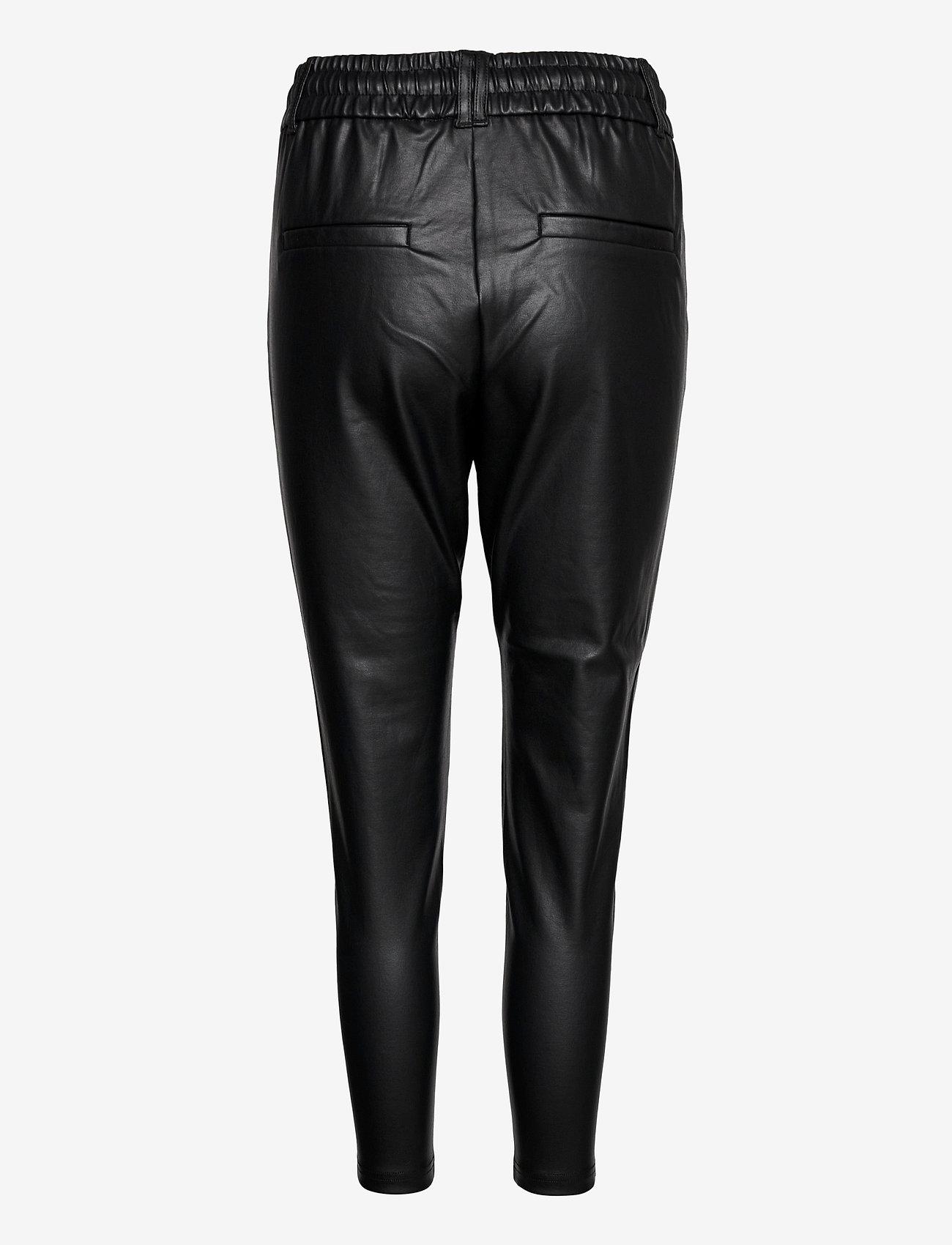 ONLY - ONLPOPTRASH EASY COATED PANT PNT - læderbukser - black - 1