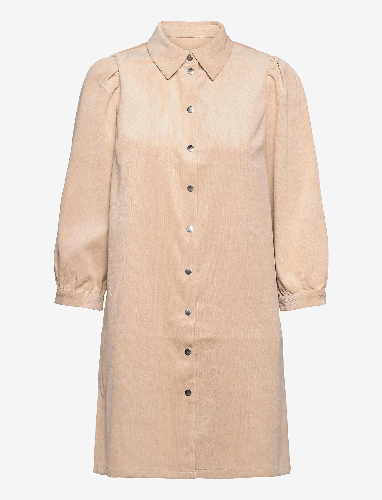 ONLY - ONLRILLA PUFF CORD DRESS CC PNT - alledaagse jurken - humus - 0