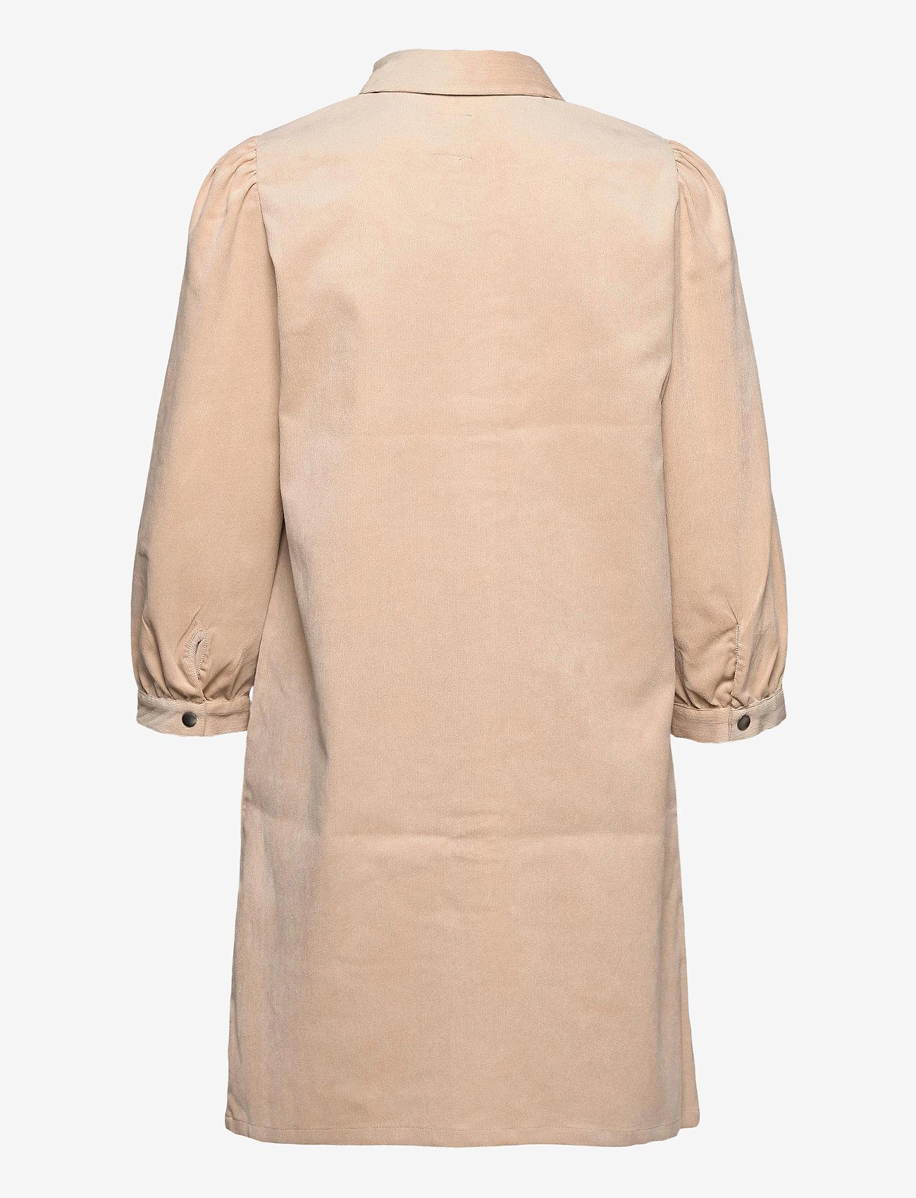 ONLY - ONLRILLA PUFF CORD DRESS CC PNT - alledaagse jurken - humus - 1