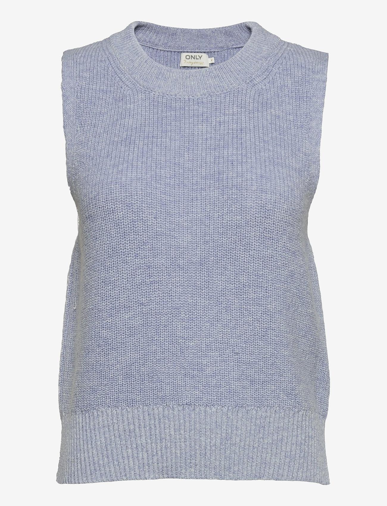 ONLY - ONLPARIS LIFE VEST KNT - knitted vests - cashmere blue - 0