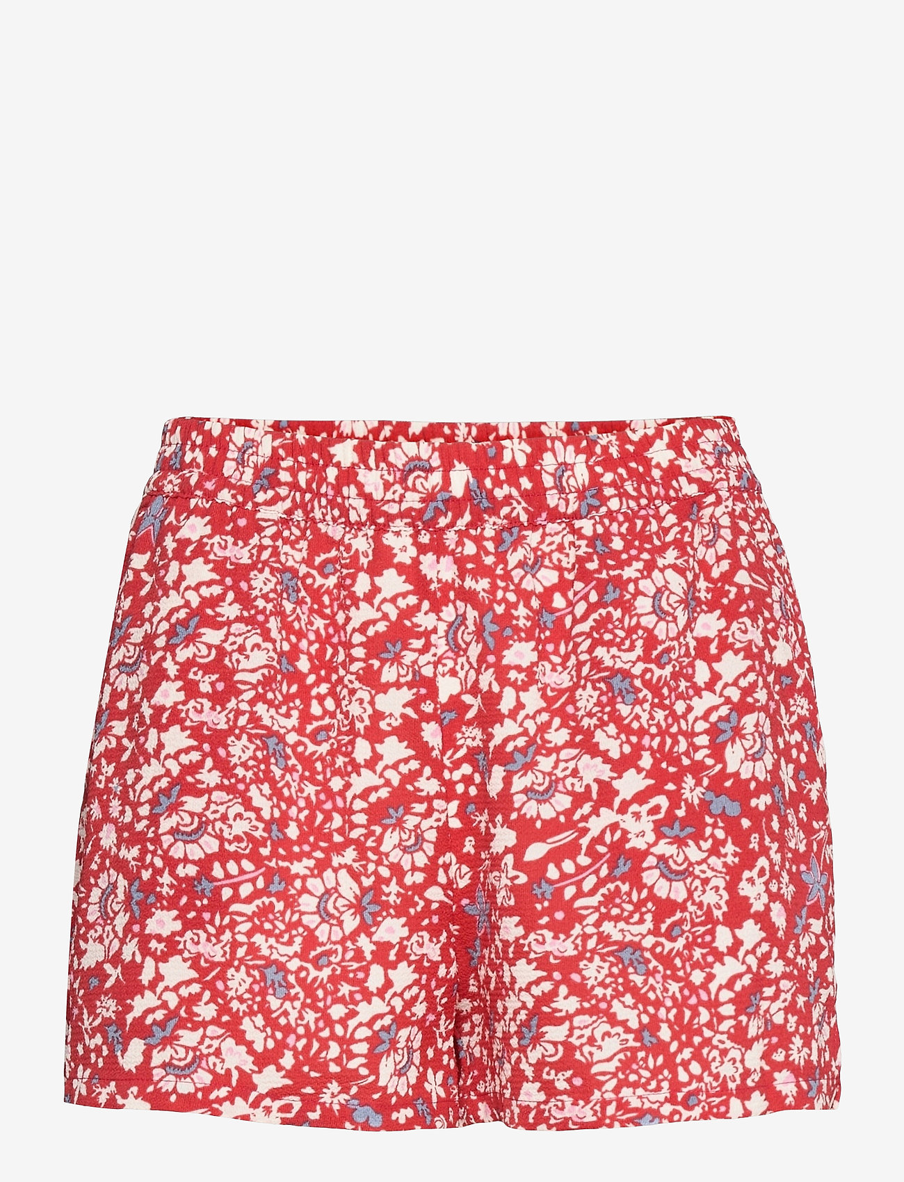 ONLY - ONLNOVA LUX  SHORTS AOP WVN 7 - shorts casual - mineral red - 0