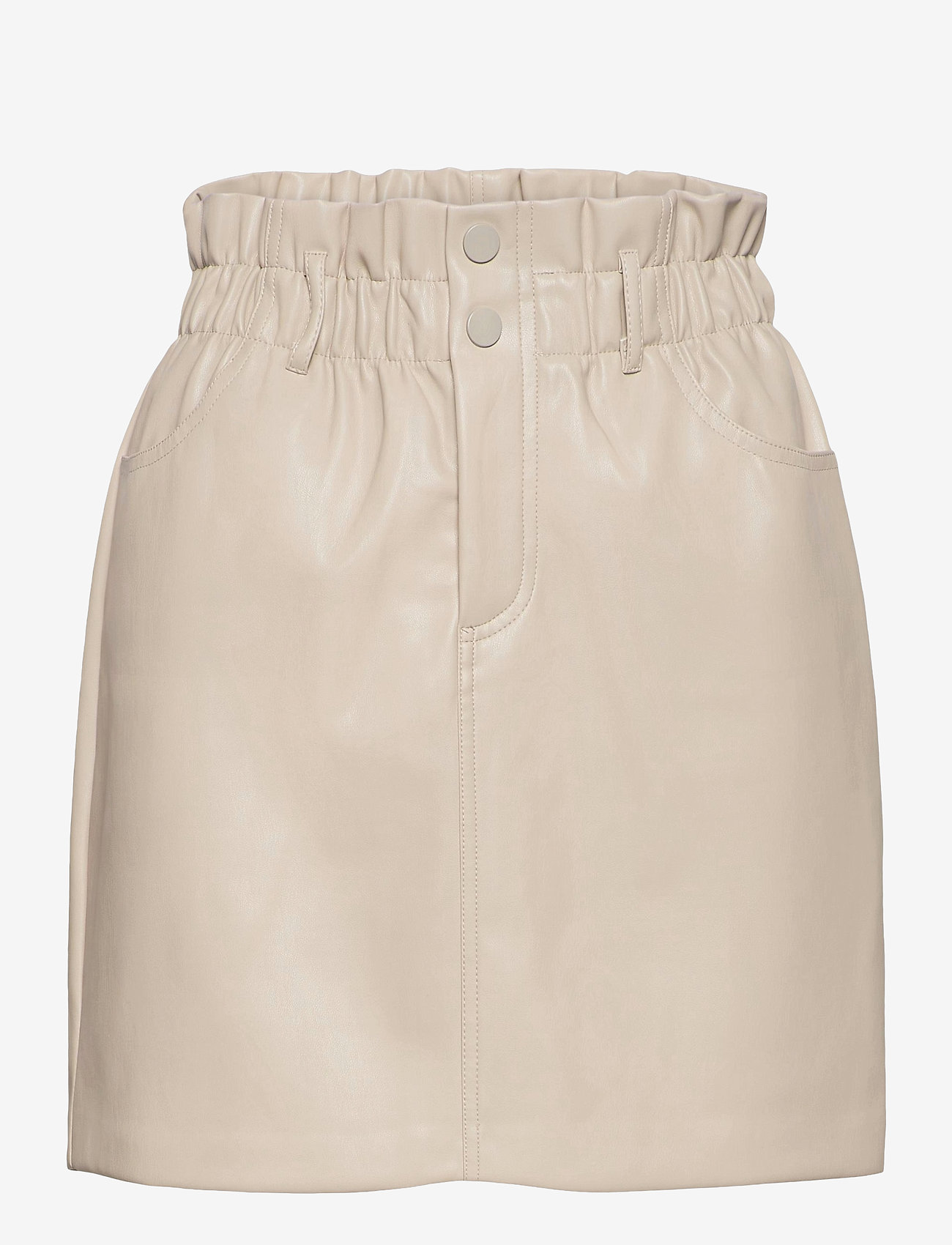 ONLY - ONLMILLIE-MIRI PB FAUX LEATHER SKIRT PNT - korta kjolar - pumice stone - 0