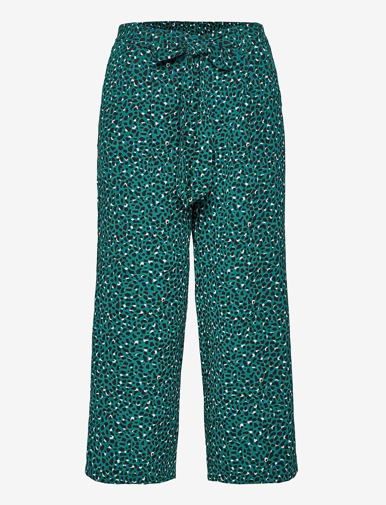 ONLY - ONLNOVA LUX CROP PALAZZO PANT AOP WVN 3 - bukser med brede ben - parasailing - 0