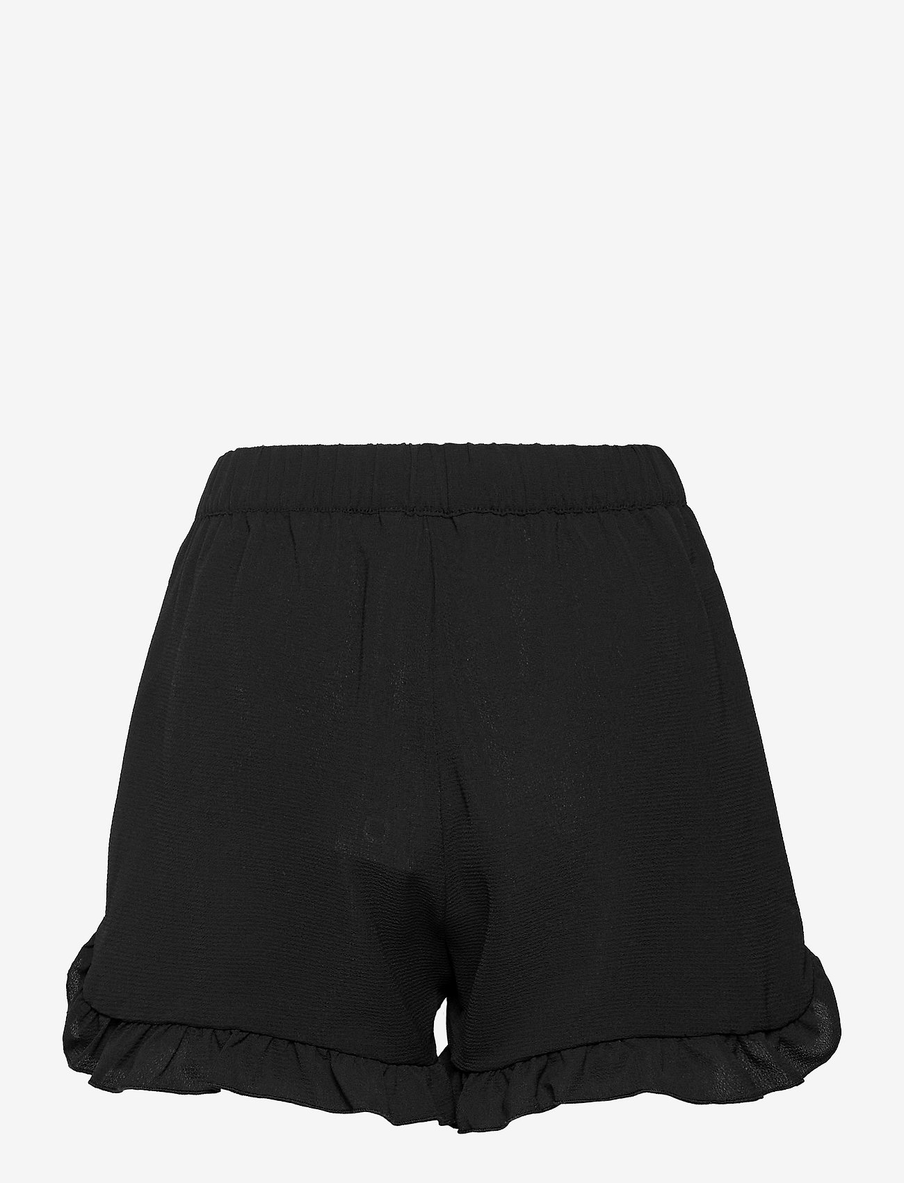 ONLY - ONLNOVA LUX  FRILL SHORTS SOLID WVN - shorts casual - black - 1