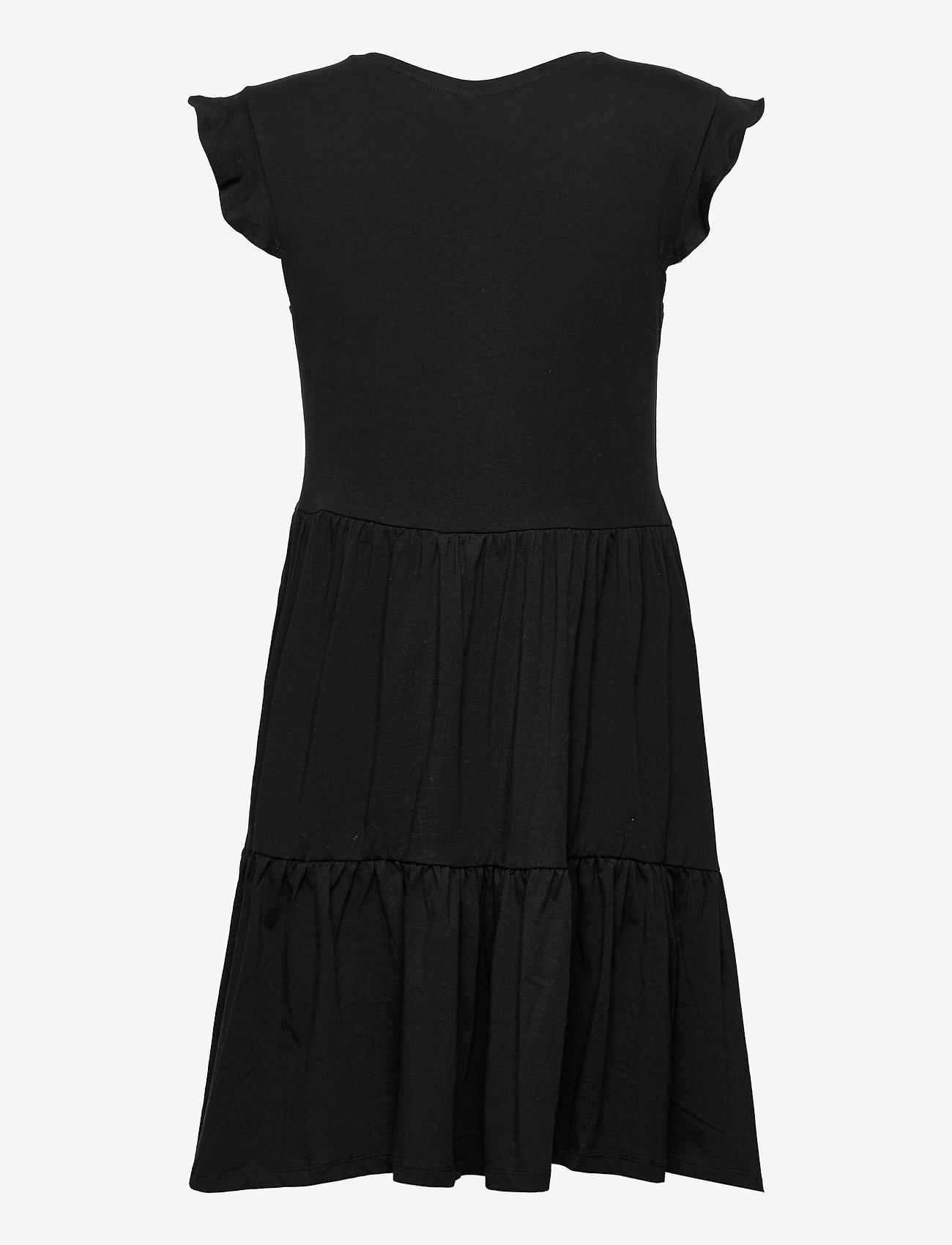 ONLY - ONLMAY LIFE CAP SLEEVES FRILL DRESS JRS - sommerkjoler - black - 1