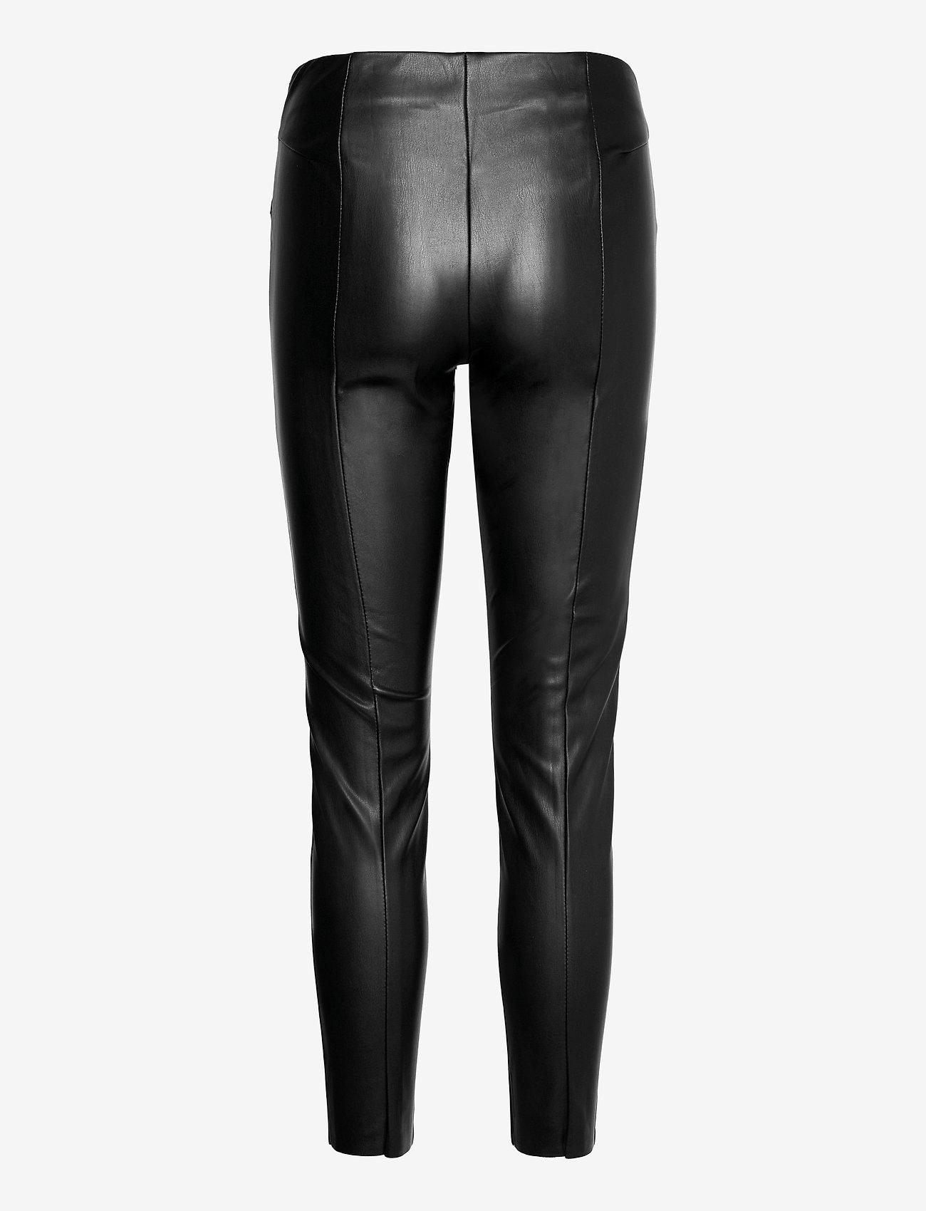 ONLY - ONLJOLEE FAUX LEAHTER CUT LEGGING PNT - læderbukser - black - 1