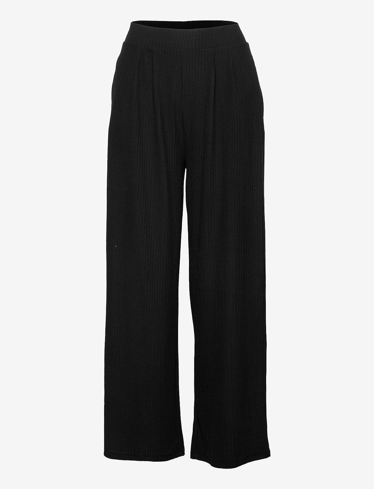 ONLY - ONLNELLA WIDE POCKET PANT CS JRS - bukser med brede ben - black - 0