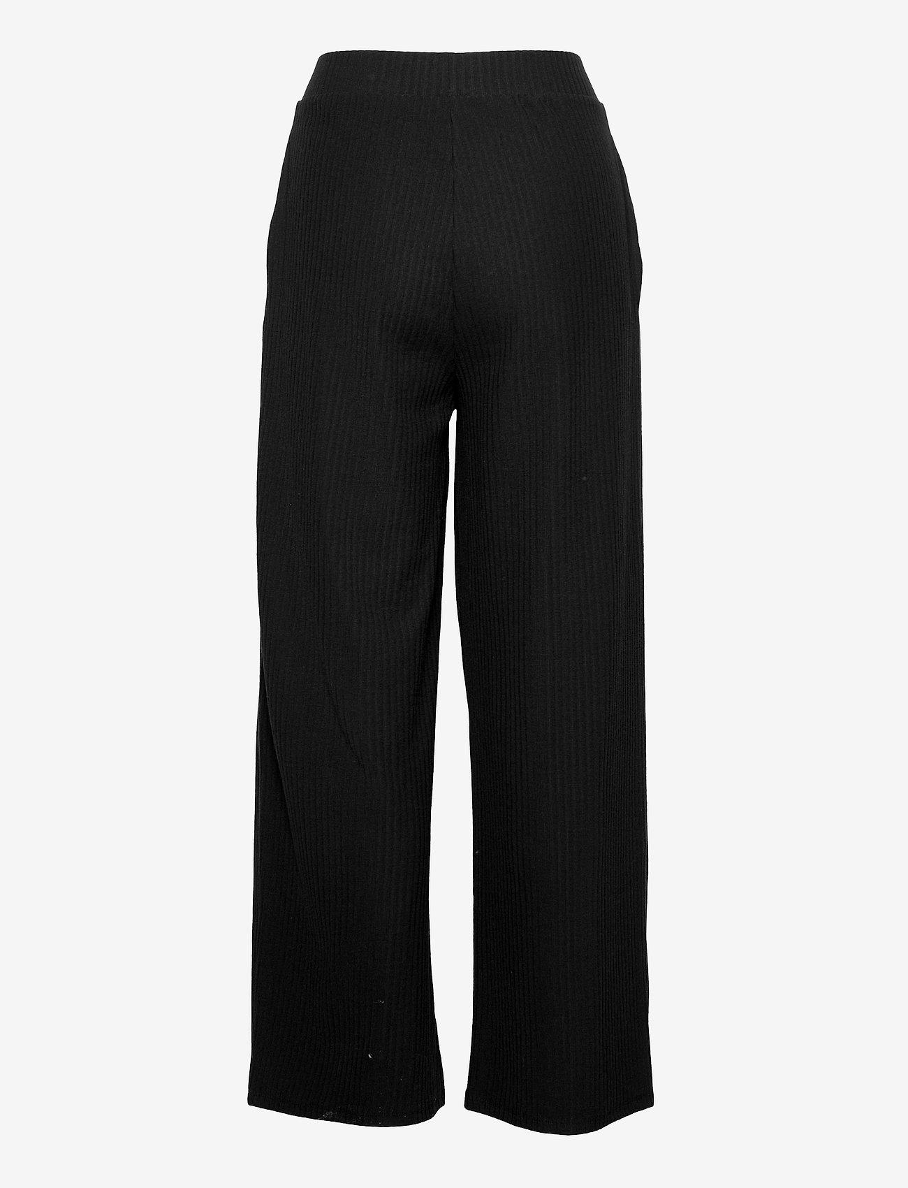 ONLY - ONLNELLA WIDE POCKET PANT CS JRS - bukser med brede ben - black - 1