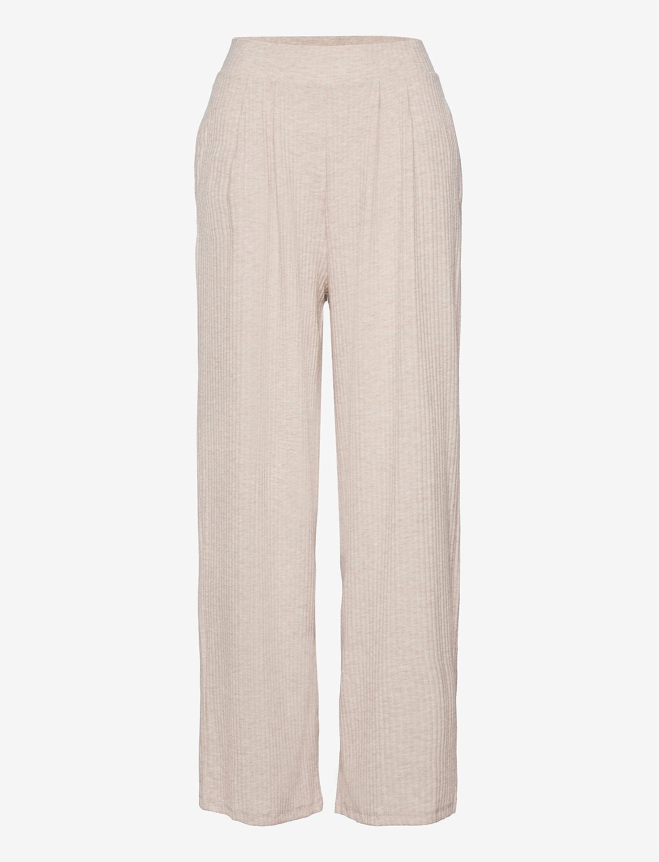 ONLY - ONLNELLA WIDE POCKET PANT CS JRS - bukser med brede ben - oatmeal - 0