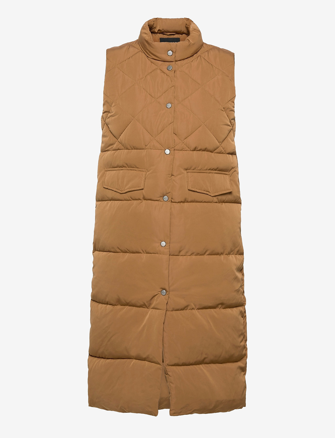 ONLY - ONLSTACY QUILTED WAISTCOAT CS OTW - puffer vests - toasted coconut - 0