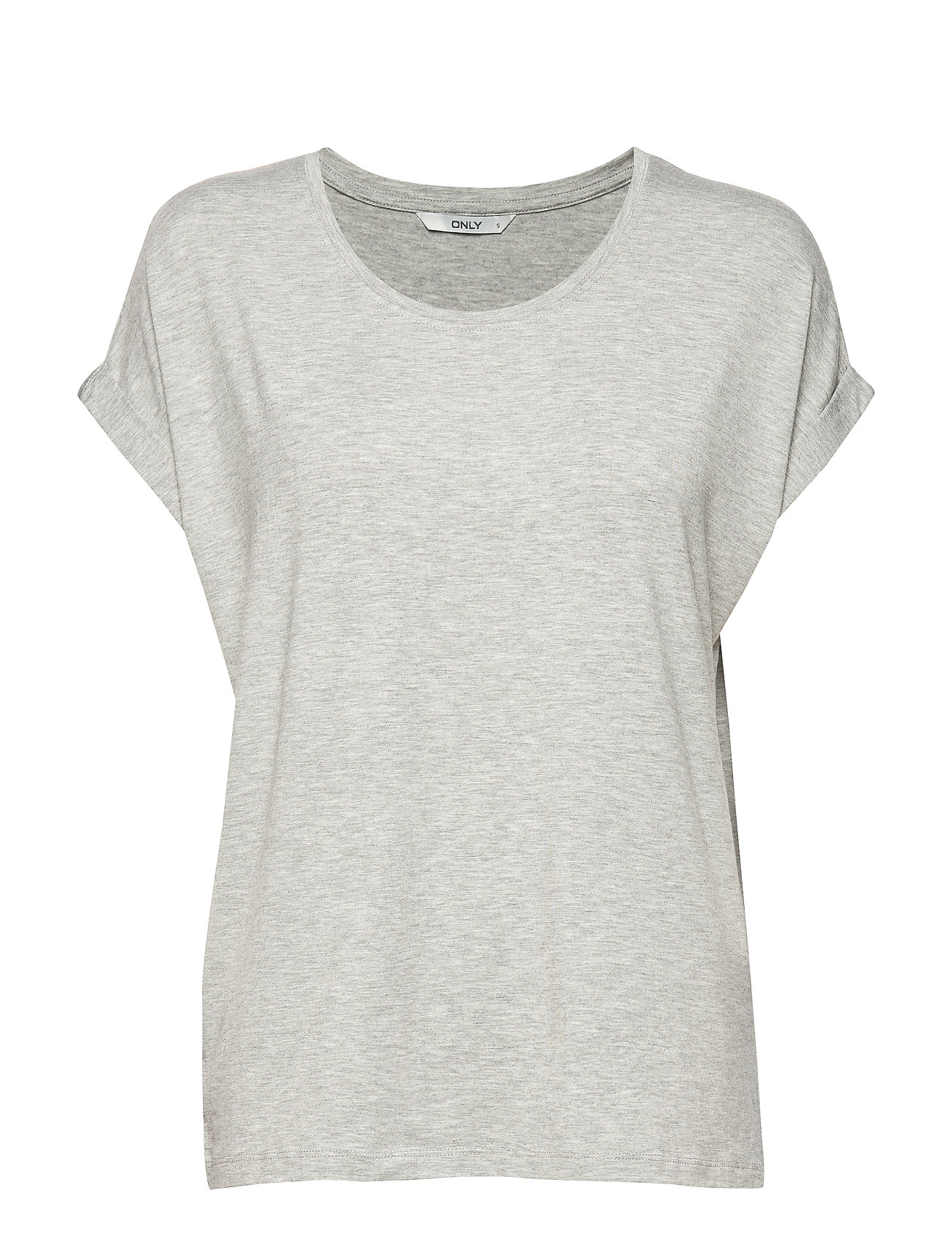 ONLY ONLMOSTER S/S O-NECK TOP NOOS JRS - LIGHT GREY MELANGE