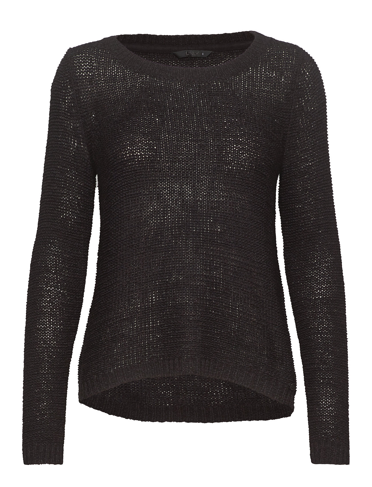 ONLY ONLGEENA XO L/S PULLOVER KNT NOOS - BLACK