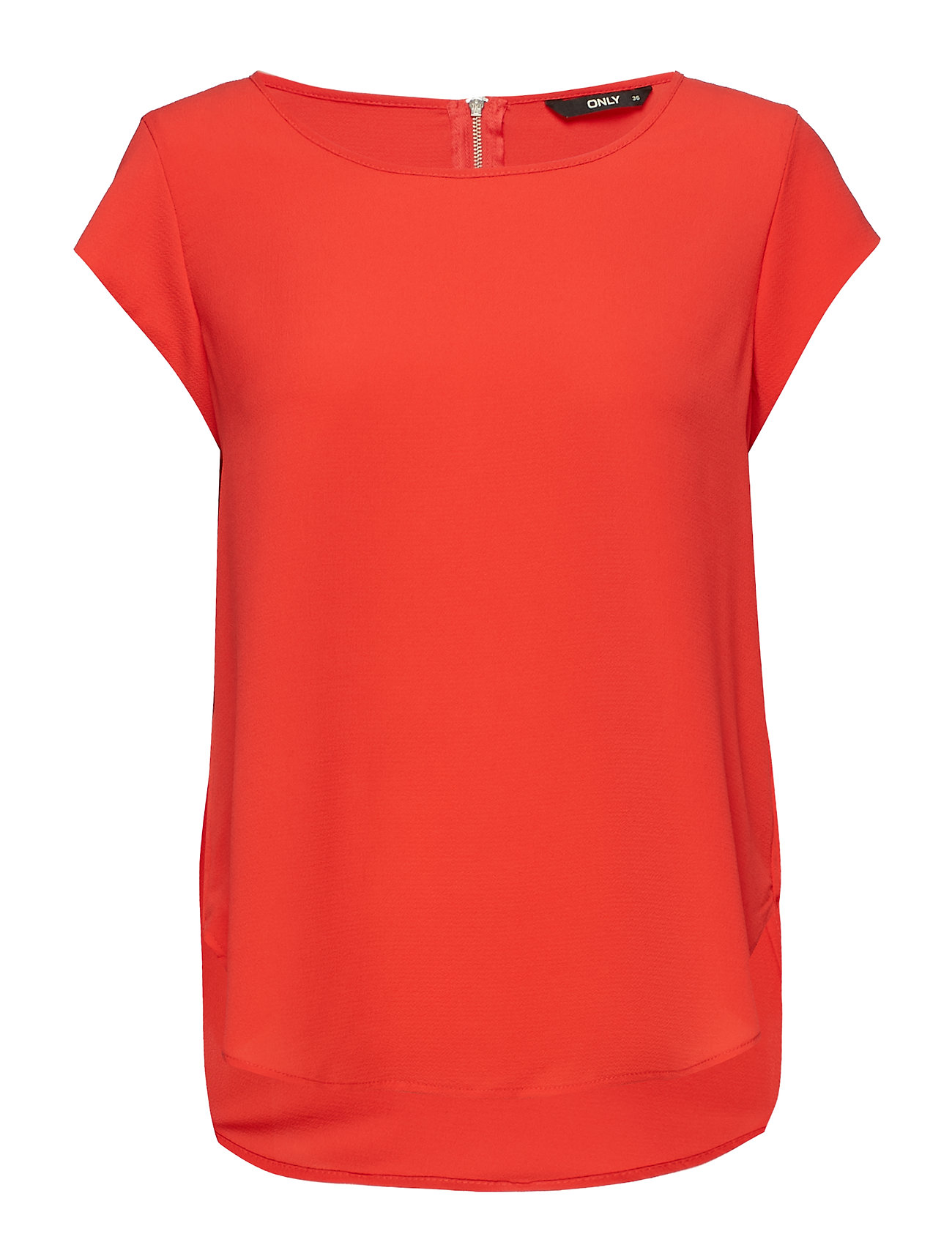 ONLY ONLVIC S/S SOLID TOP NOOS WVN - HIGH RISK RED