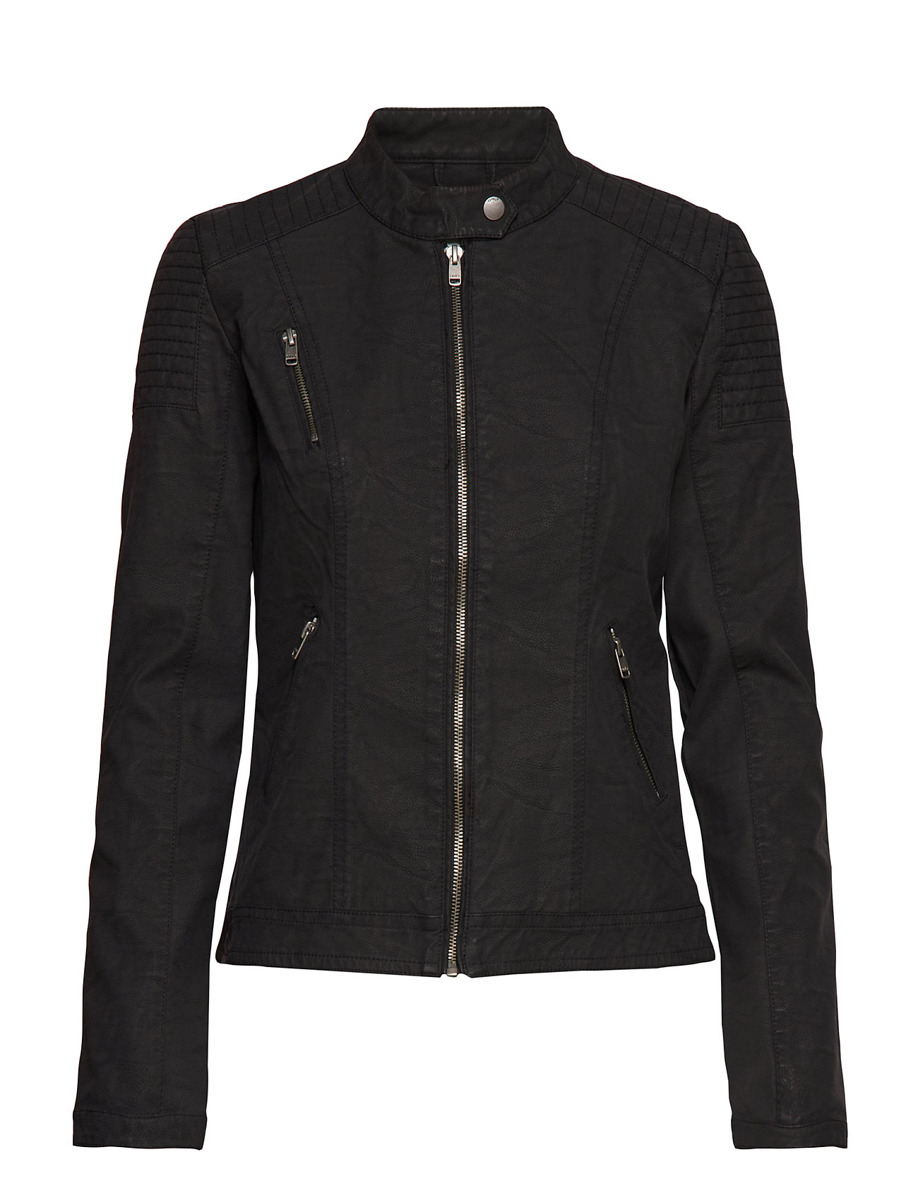 ONLY onlSTEADY FAUX LEATHER JACKET OTW - BLACK