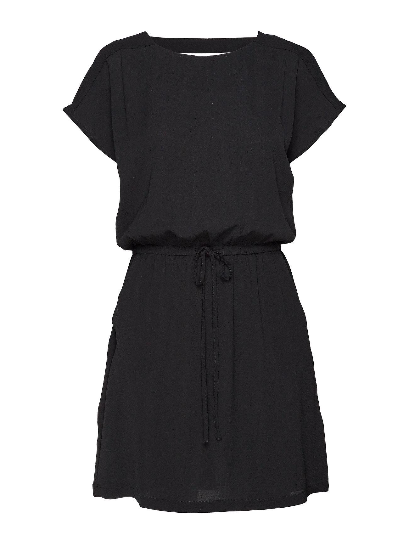 ONLY ONLMARIANA MYRINA S/S DET DRESS NOOS WVN - BLACK