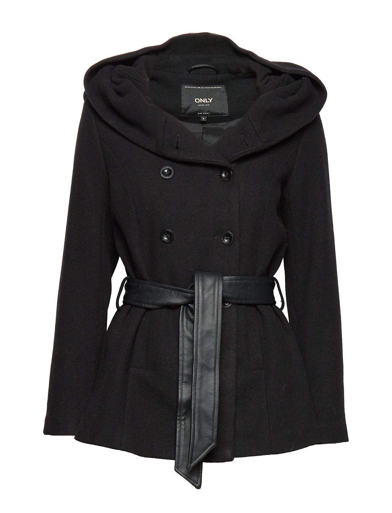 ONLY ONLLISA RIANNA SHORT WOOL COAT CC OTW - BLACK