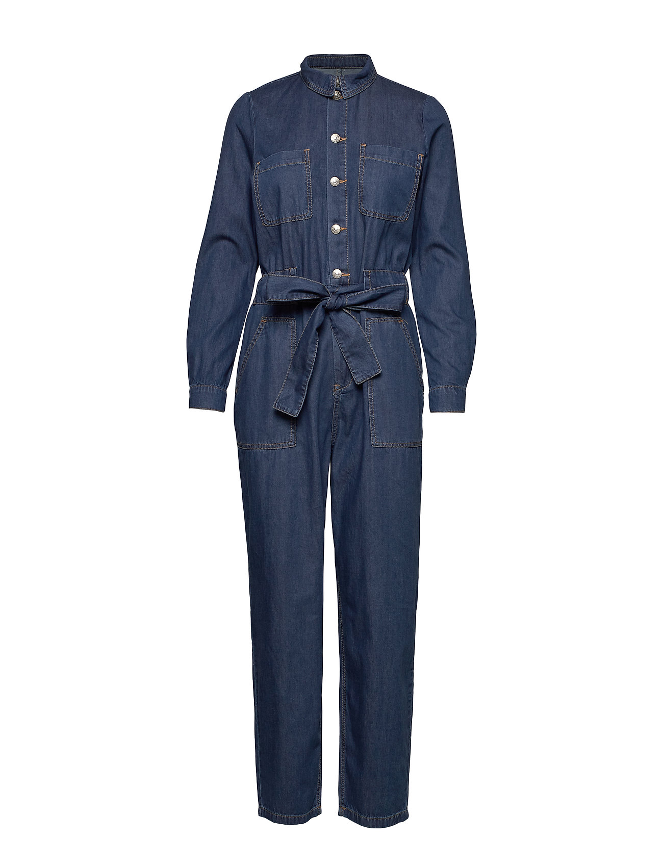 ONLY ONLJAYLA LS ANK UTILIT BELT DNM JUMPSUIT - DARK BLUE DENIM