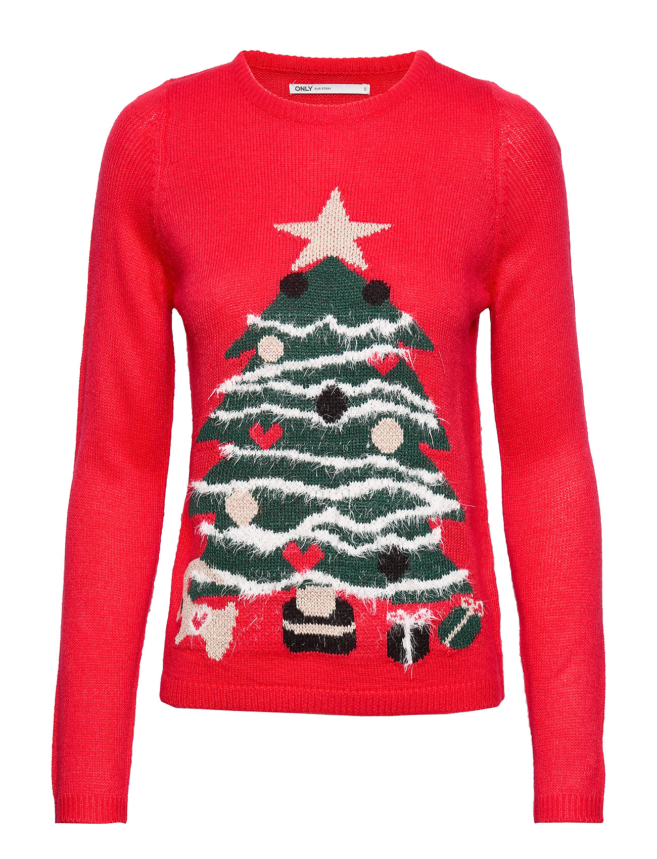 ONLY ONLXMAS STAR L/S PULLOVER KNT - GOJI BERRY