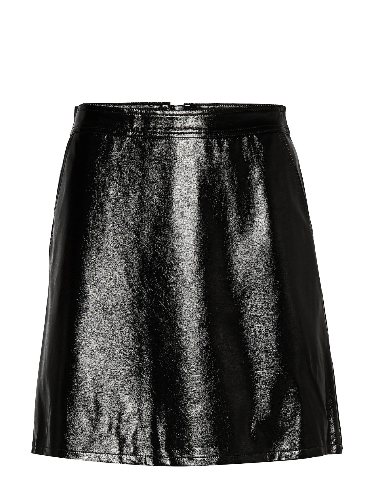 ONLY ONLBELLA GLAZED FAUX LEATHER SKIRT OTW - BLACK