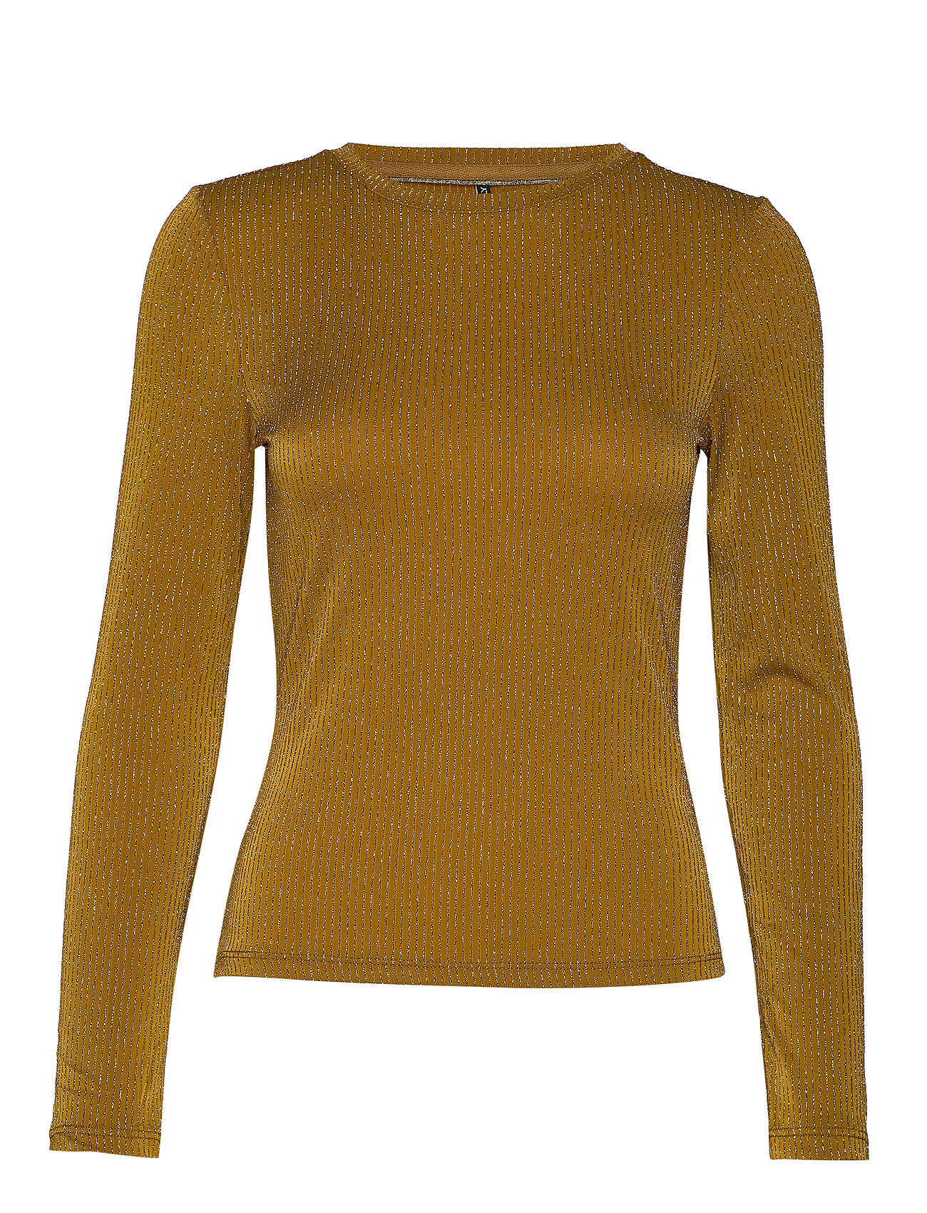 ONLY ONLCOSMO L/S GLITTER TOP JRS - TAPENADE