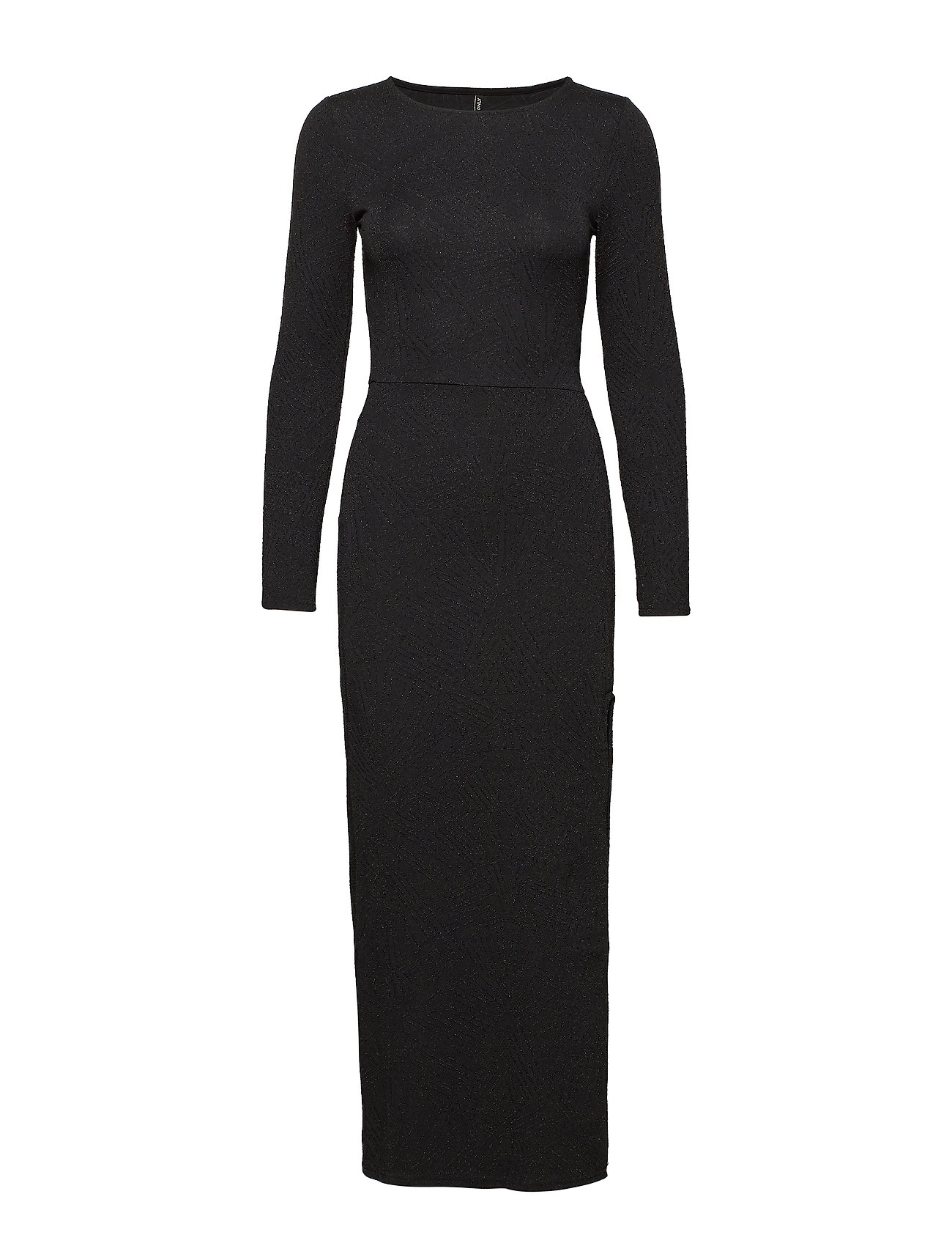 ONLY ONLSHINE L/S SLIT DRESS JRS - BLACK