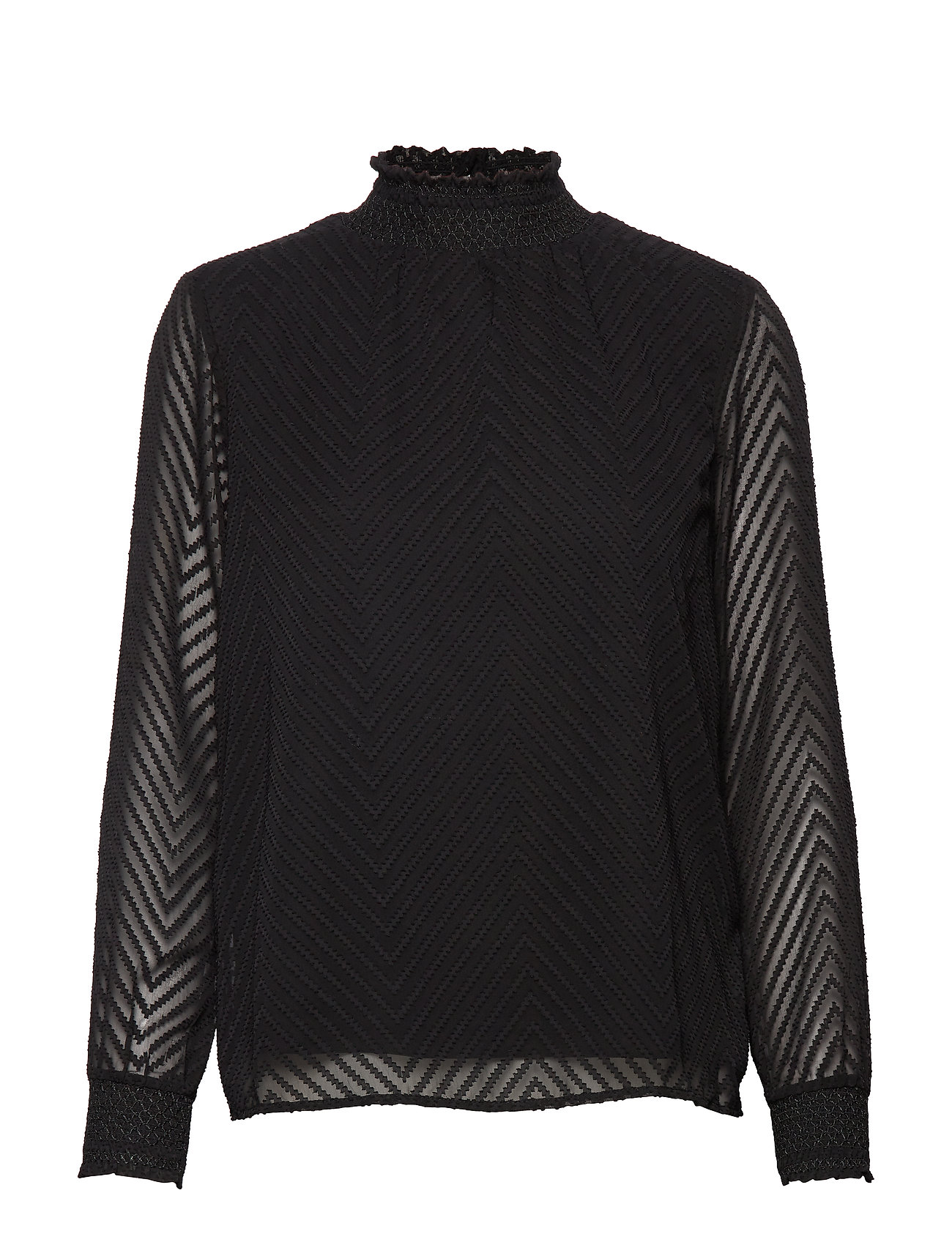 ONLY ONLNEW KAYLA L/S TOP NOOS WVN - BLACK